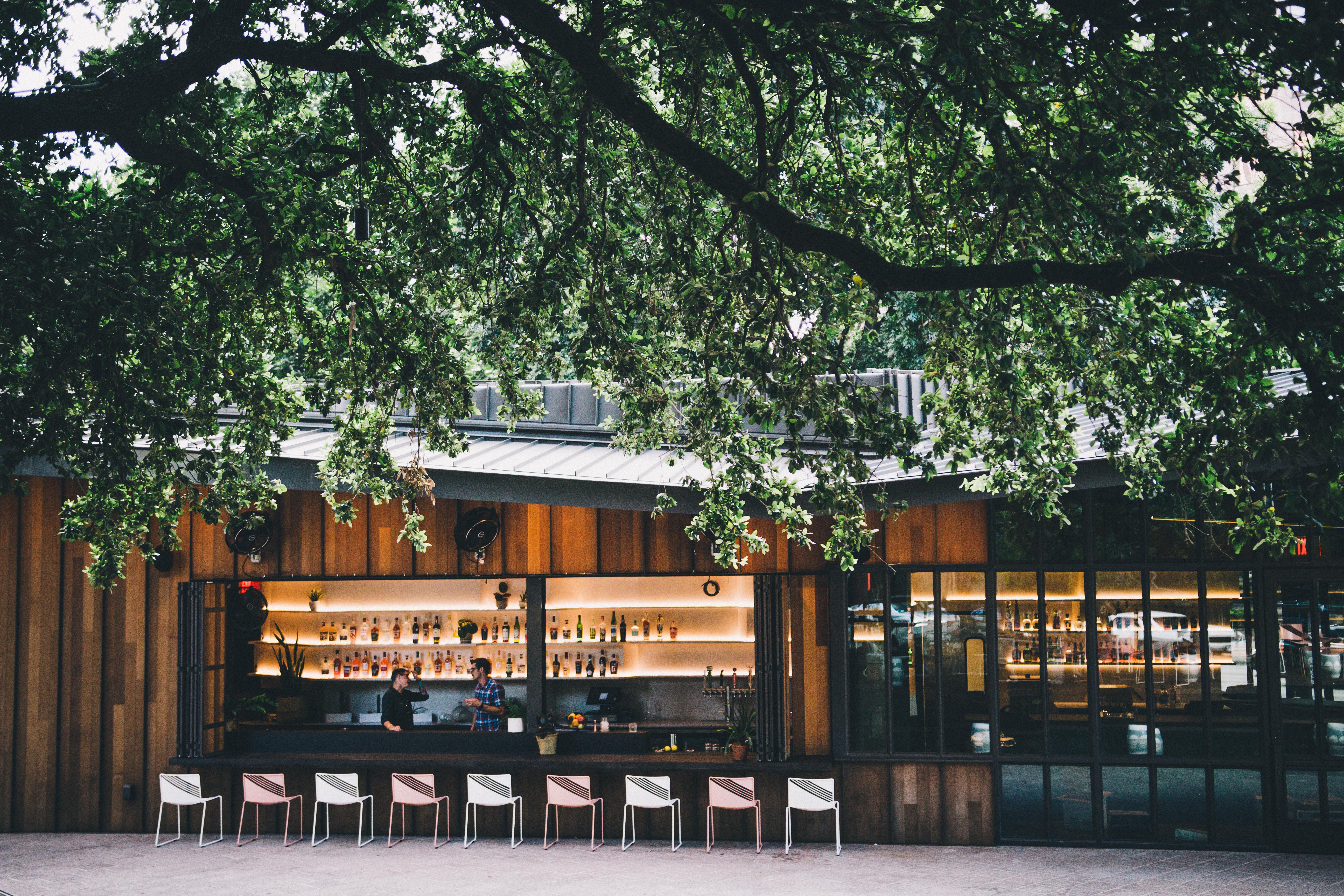 The patio at Ellis