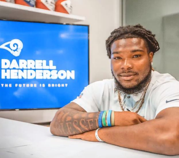 Los Angeles Rams RB Darrell Henderson after signing his rookie contract, June 7, 2019.