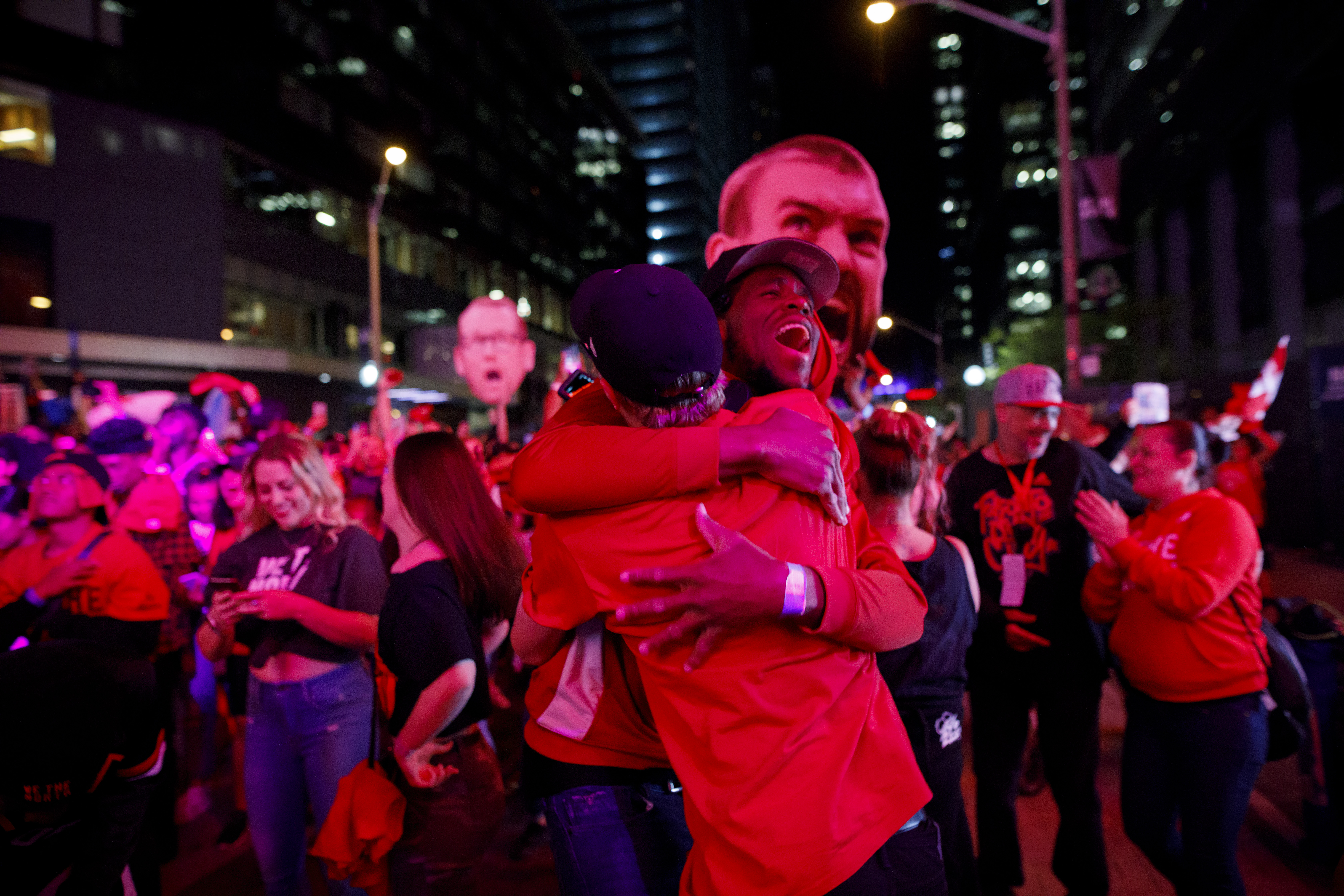 Raptors Fans Gather At 'Jurassic Park' In Toronto To Watch Their Team's First NBA Finals Series