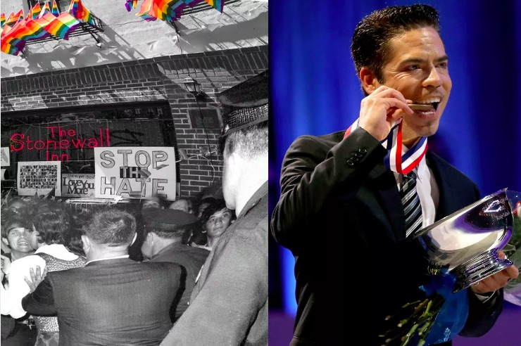 Rudy Galindo, Stonewall, gay figure skater