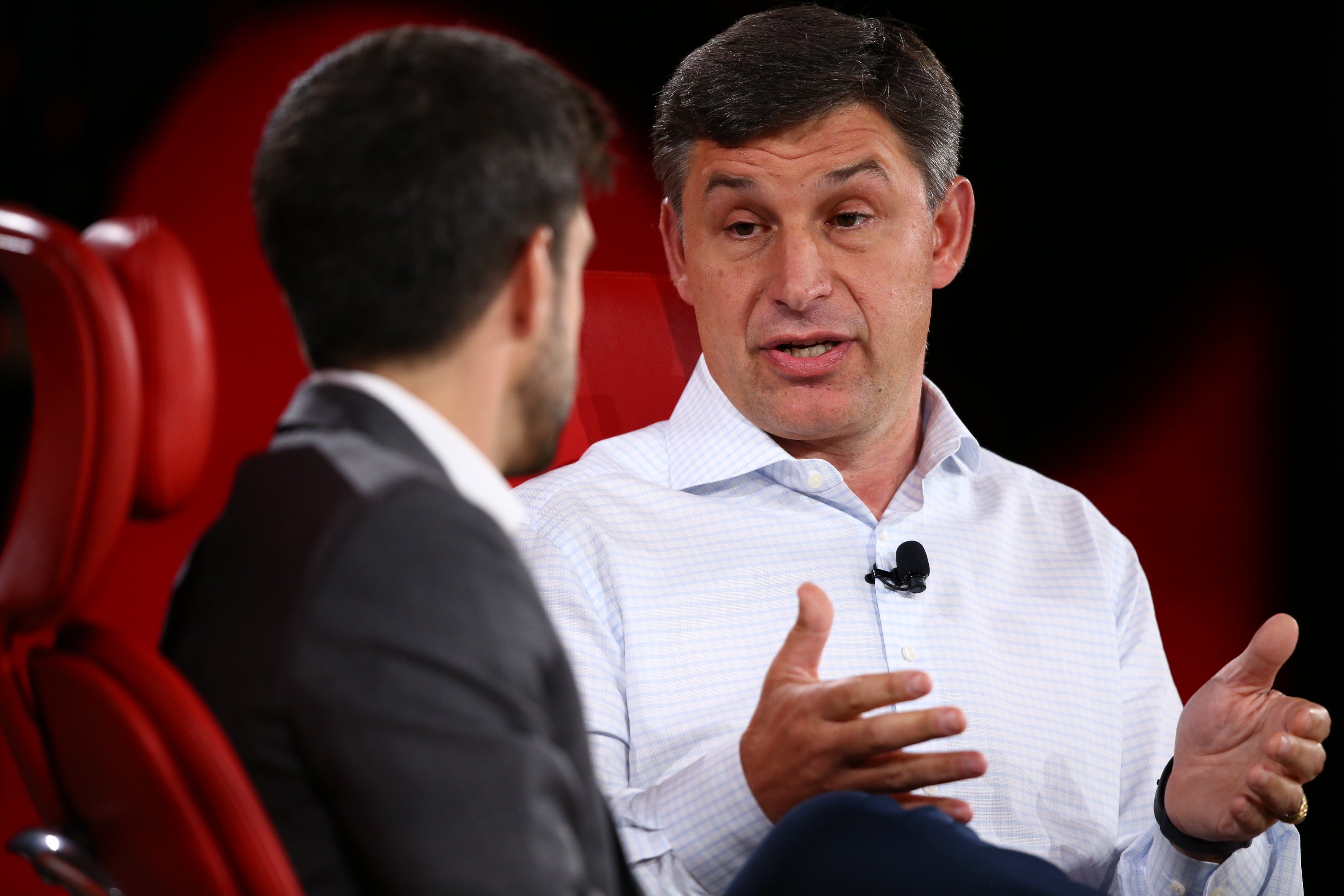 Anthony Noto onstage at Code Conference 2019.