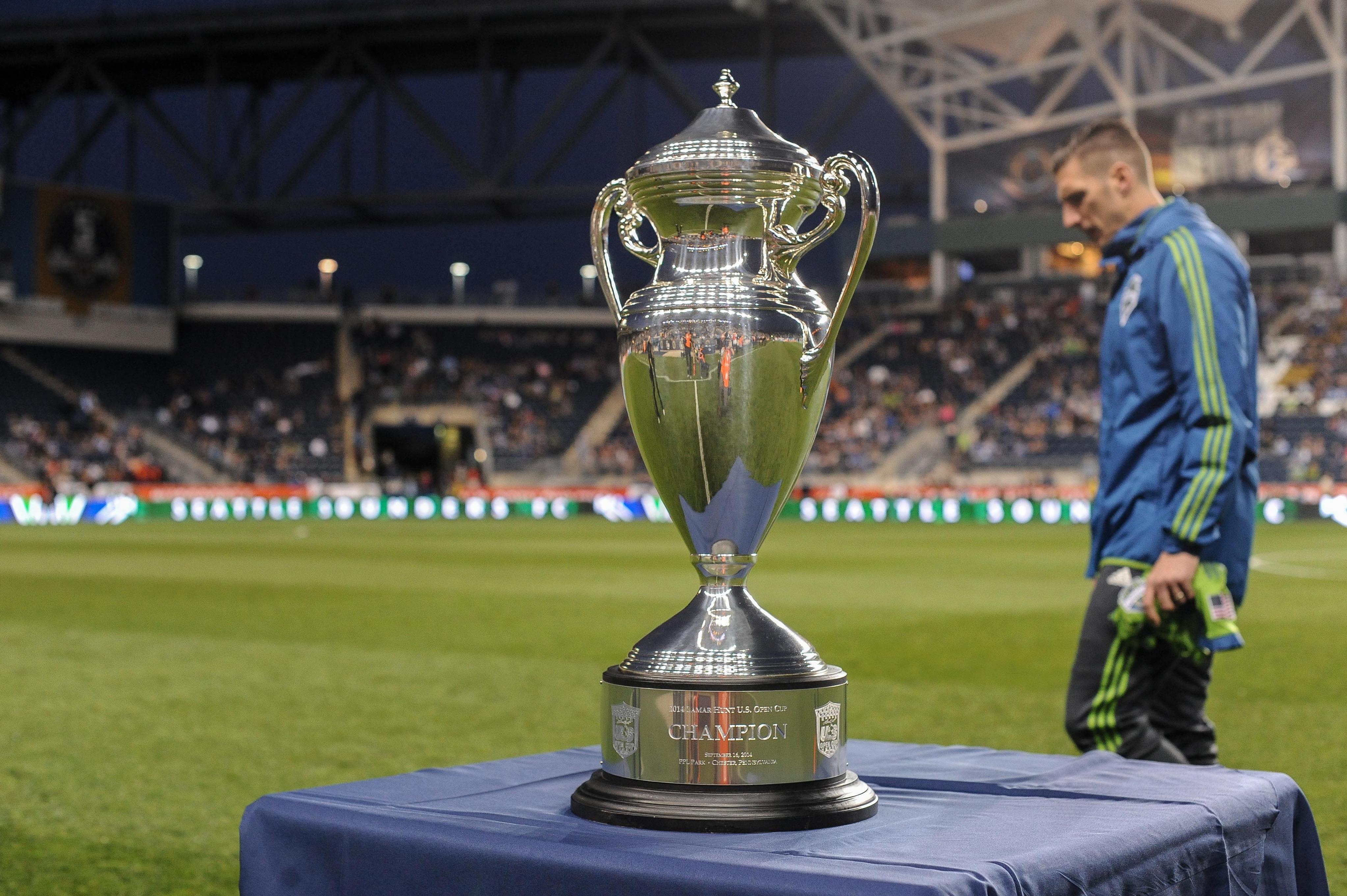 The U.S. Open Cup trophy in 2014.