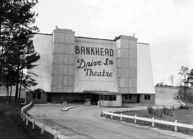 The backside of the Bankhead Drive-In Theatre.