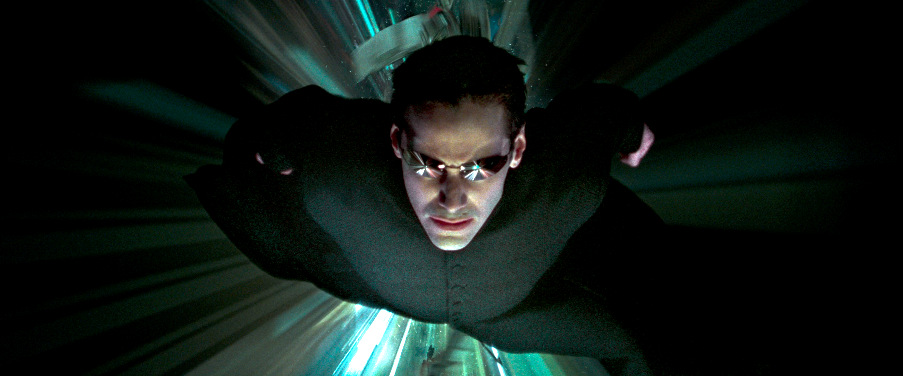 the matrix reloaded - neo flying