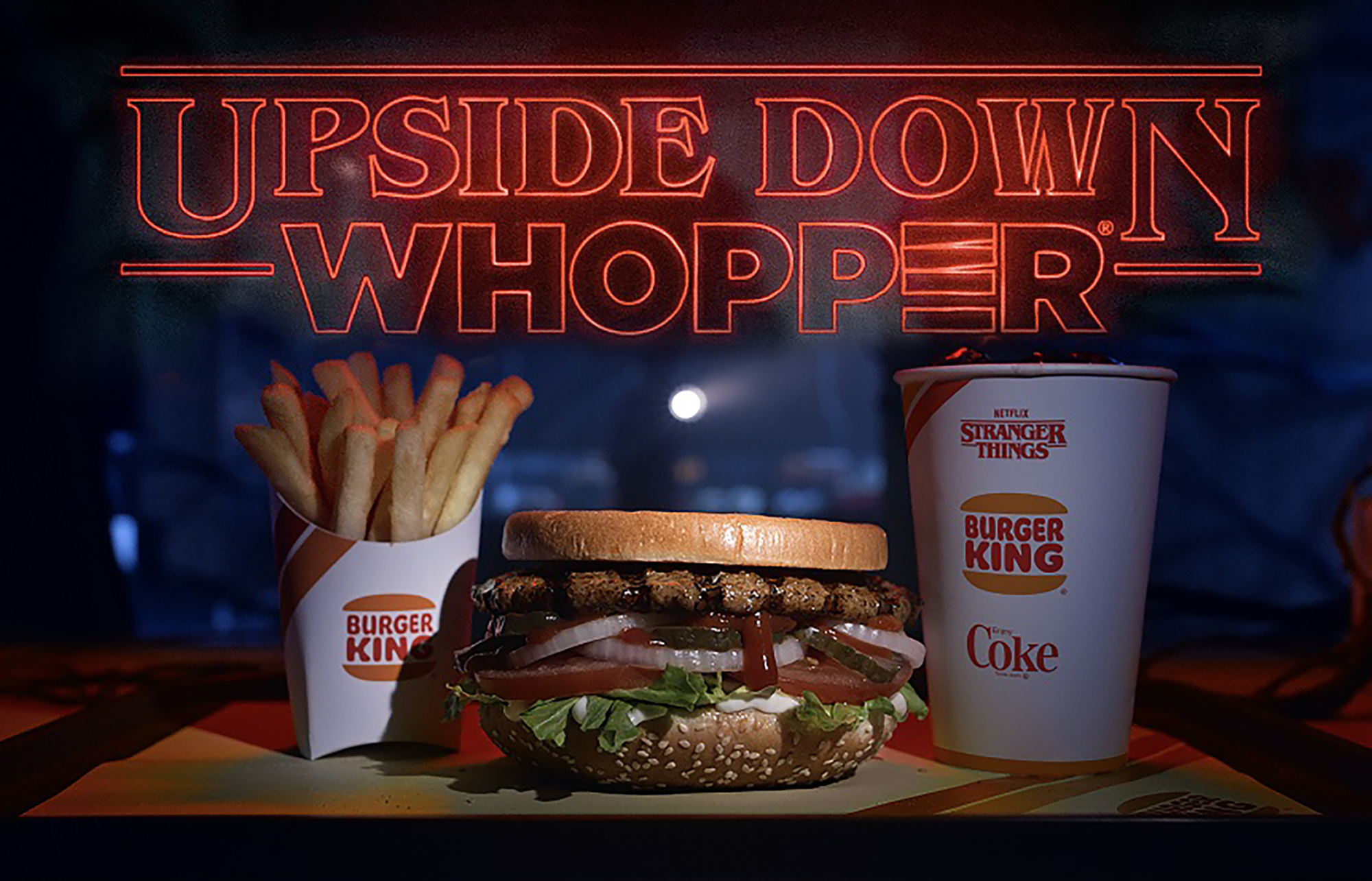 Stranger Things' and Burger King Collaborate on 'Upside Down