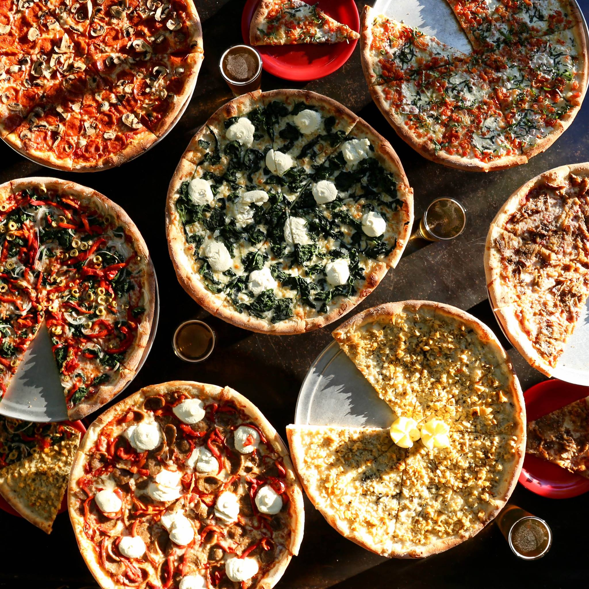 Home Slice's pizza array