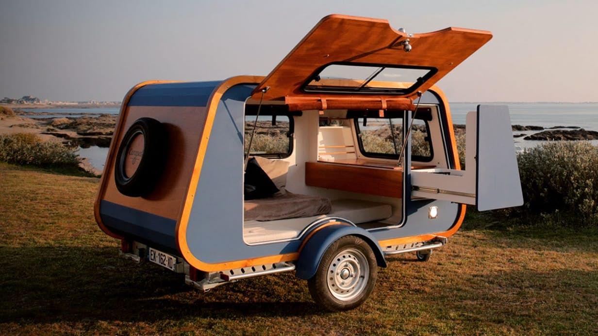 Yacht-like camper rethinks the teardrop trailer