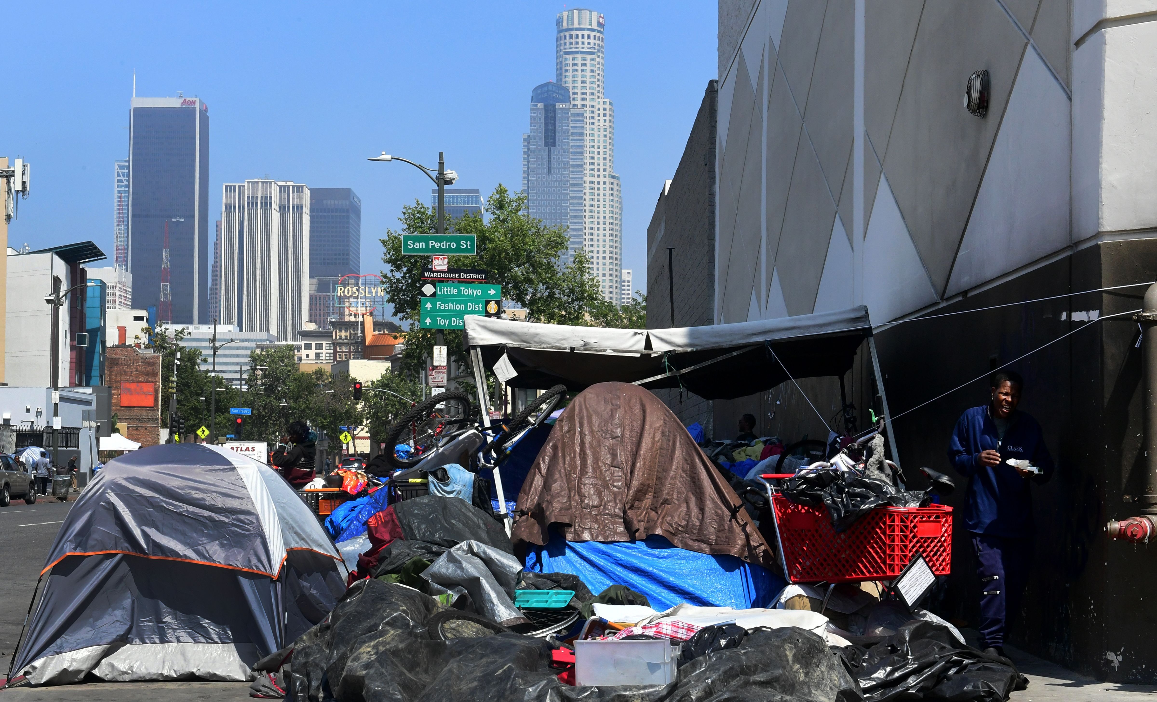 County inspectors cite dozens of Skid Row businesses for 'overflowing dumpsters,' 'rodent burrows'