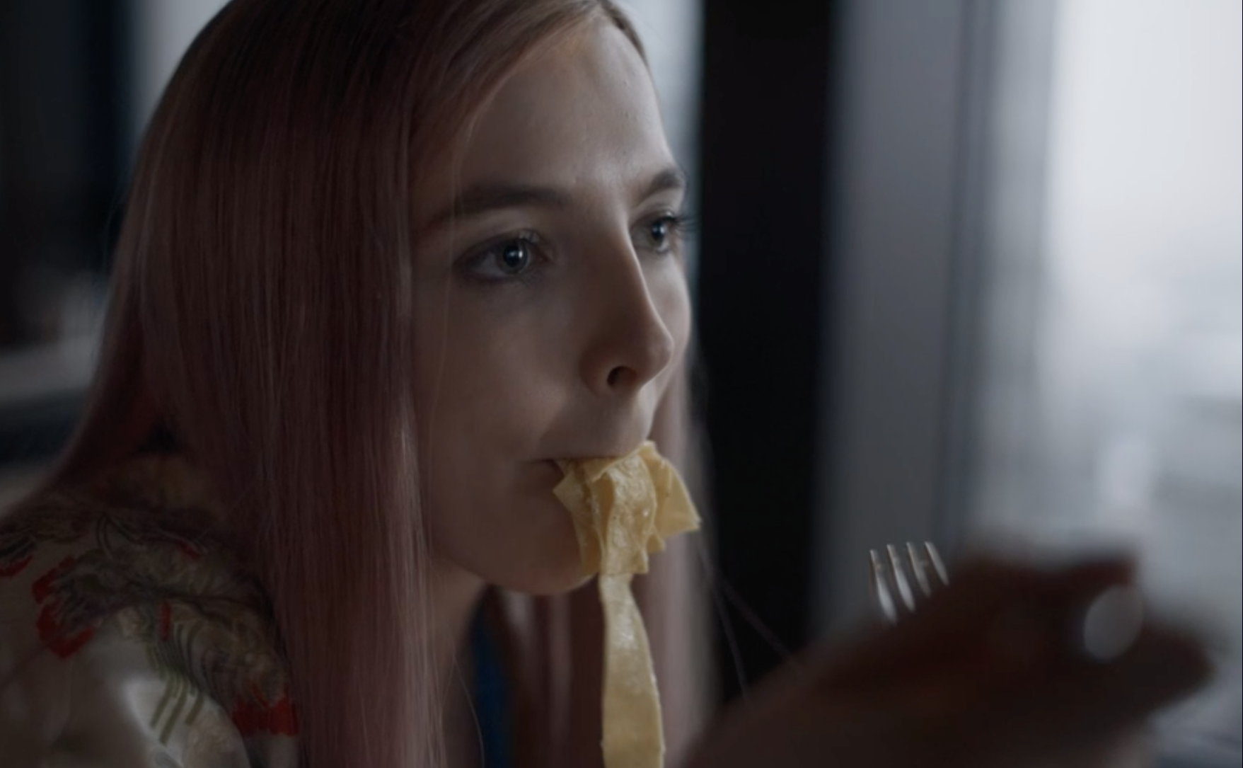Killing Eve's Villannelle, played by Jodie Comer, has a pasta scene in season two in a Michelin-starred London restaurant