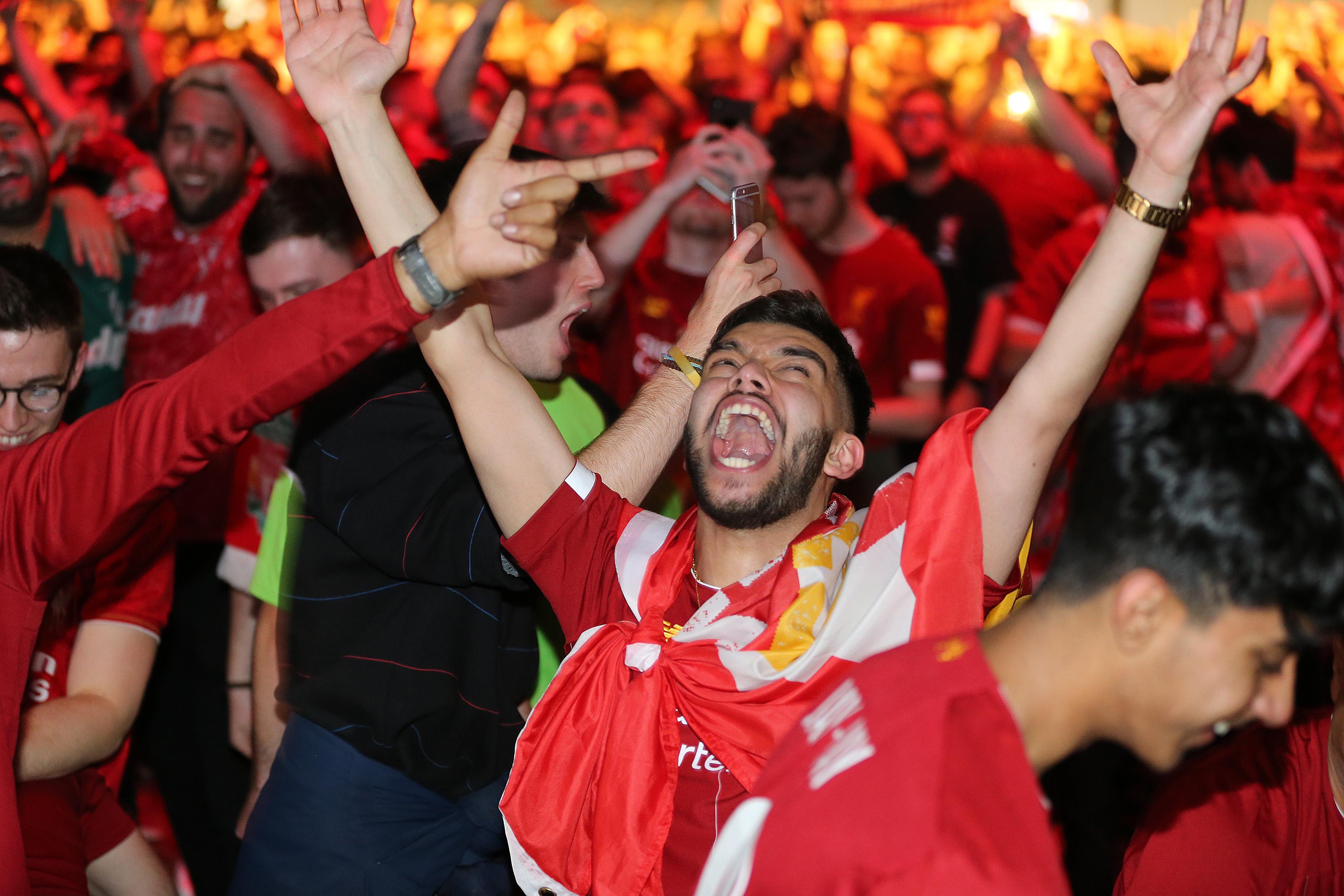 Fans Watch UEFA Champions League Final In Liverpool