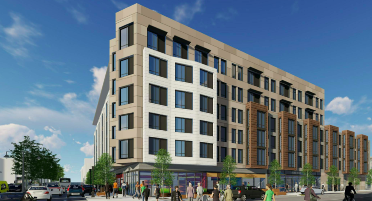 Renderings of a six-story condo building in the Lower Haight.