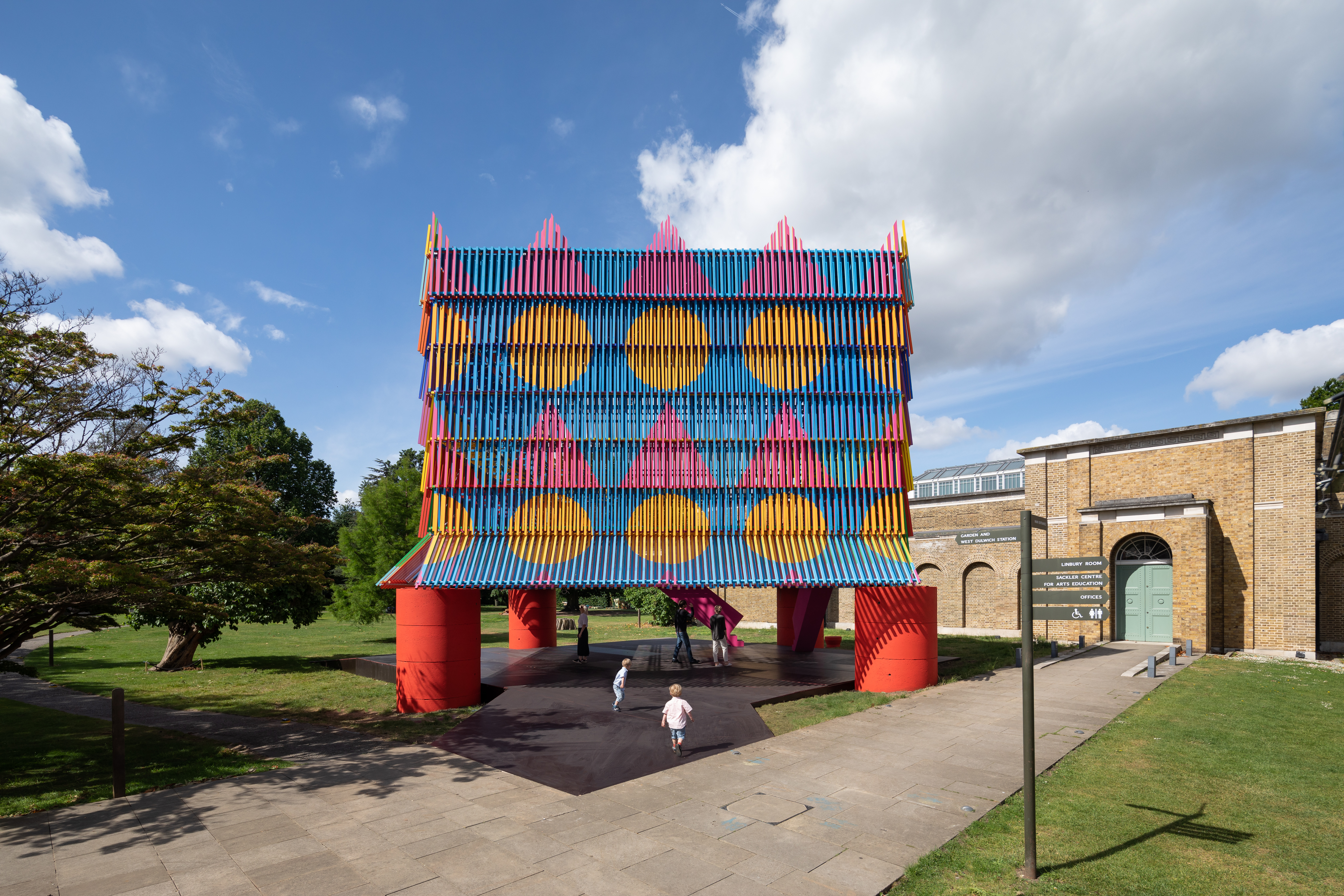 colorful installation in London