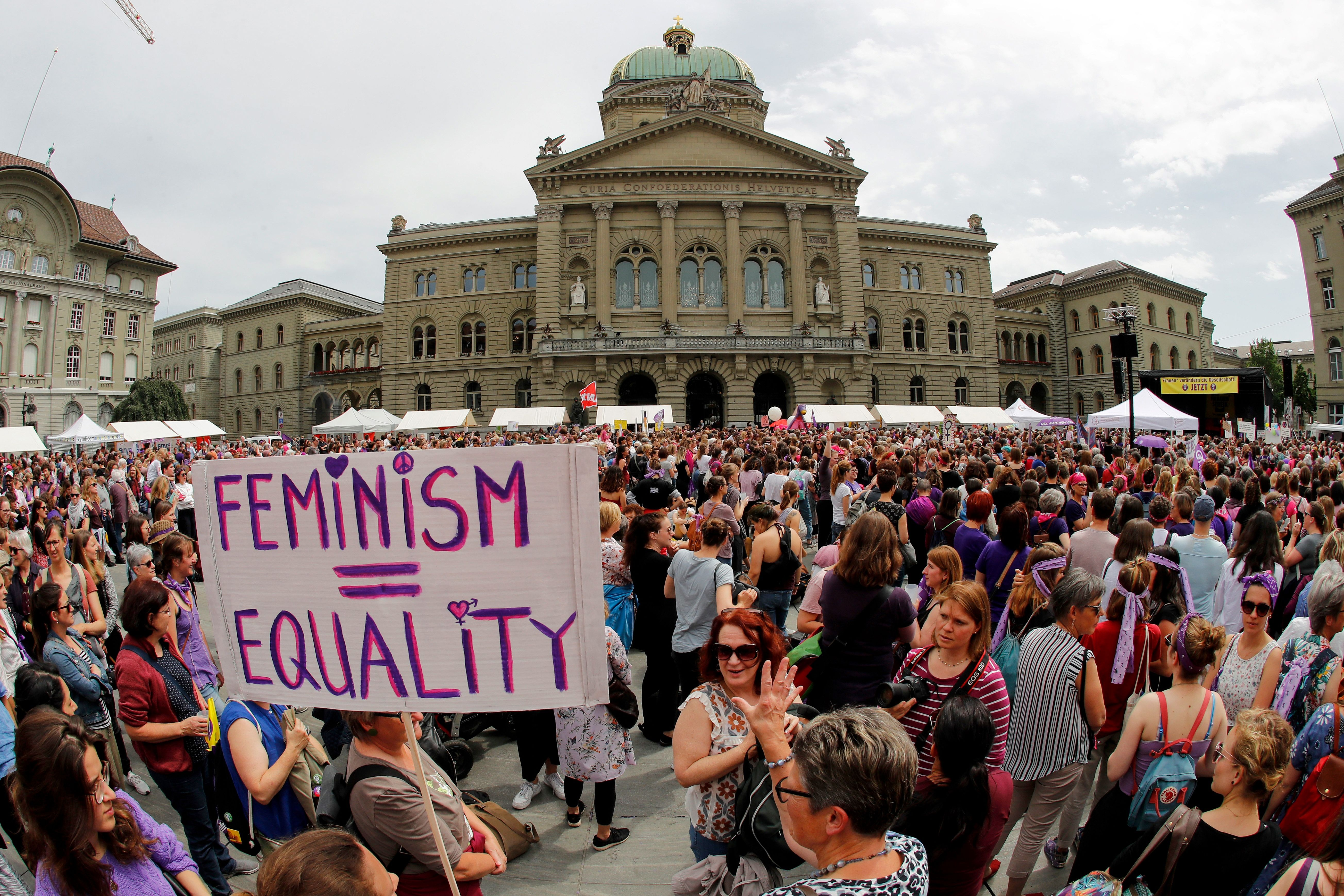 Thousands of Swiss women walked out of their jobs to protest inequality