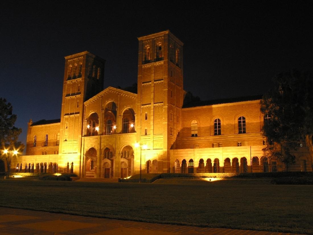 Royce Hall at night