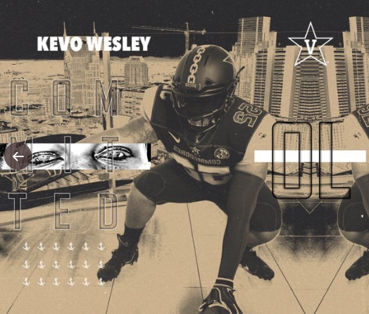 Kezo Wesley's commitment picture from Twitter.