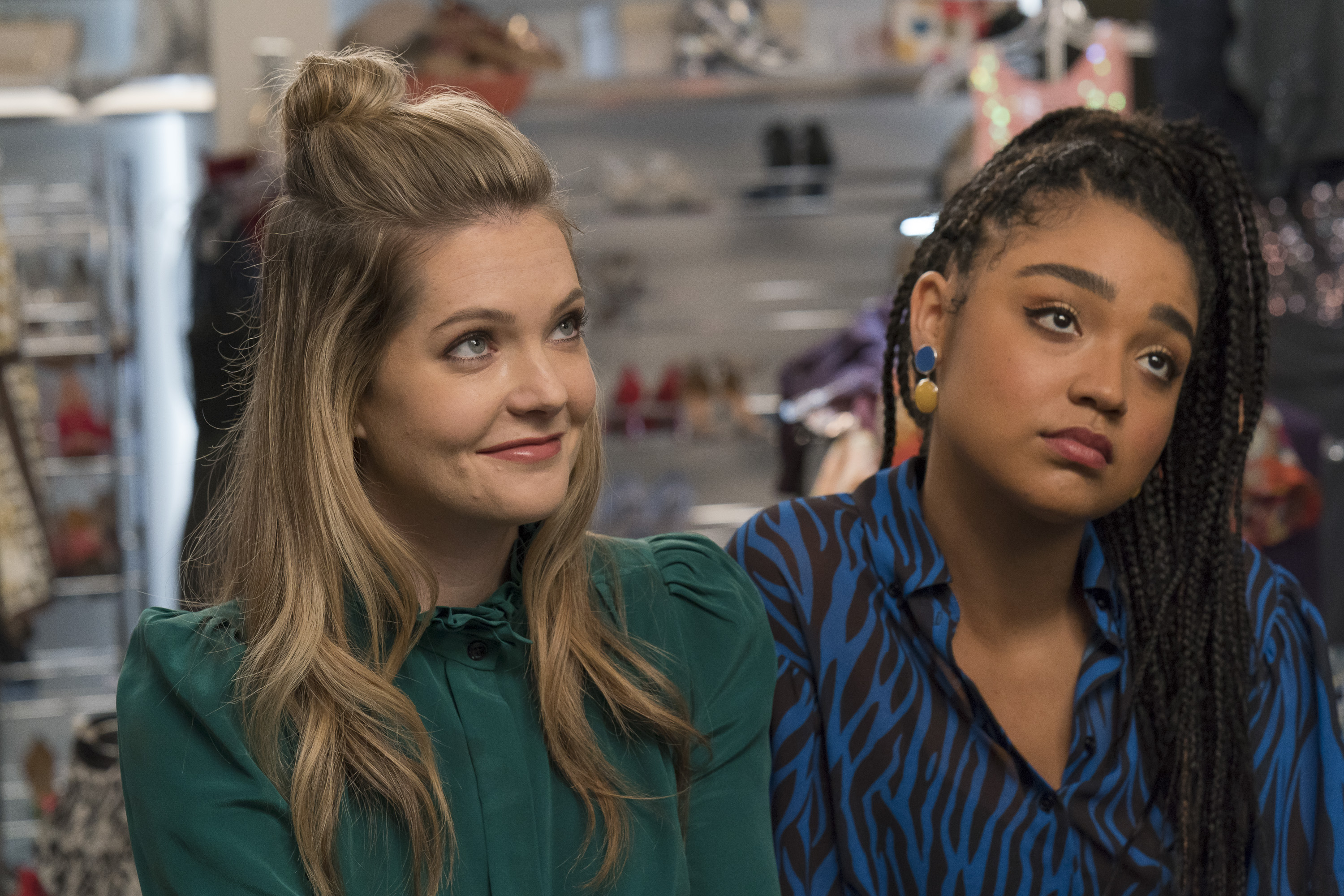Meghann Fahy and Aisha Dee in the season 3 finale of The Bold Type.