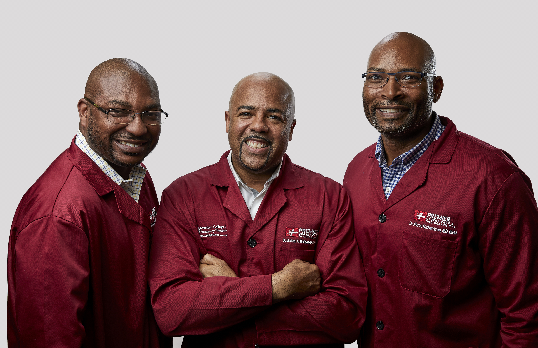 Dr. Ruben C. Rutland (left), Dr. Michael A. McGee and Dr. Airron Richardson.