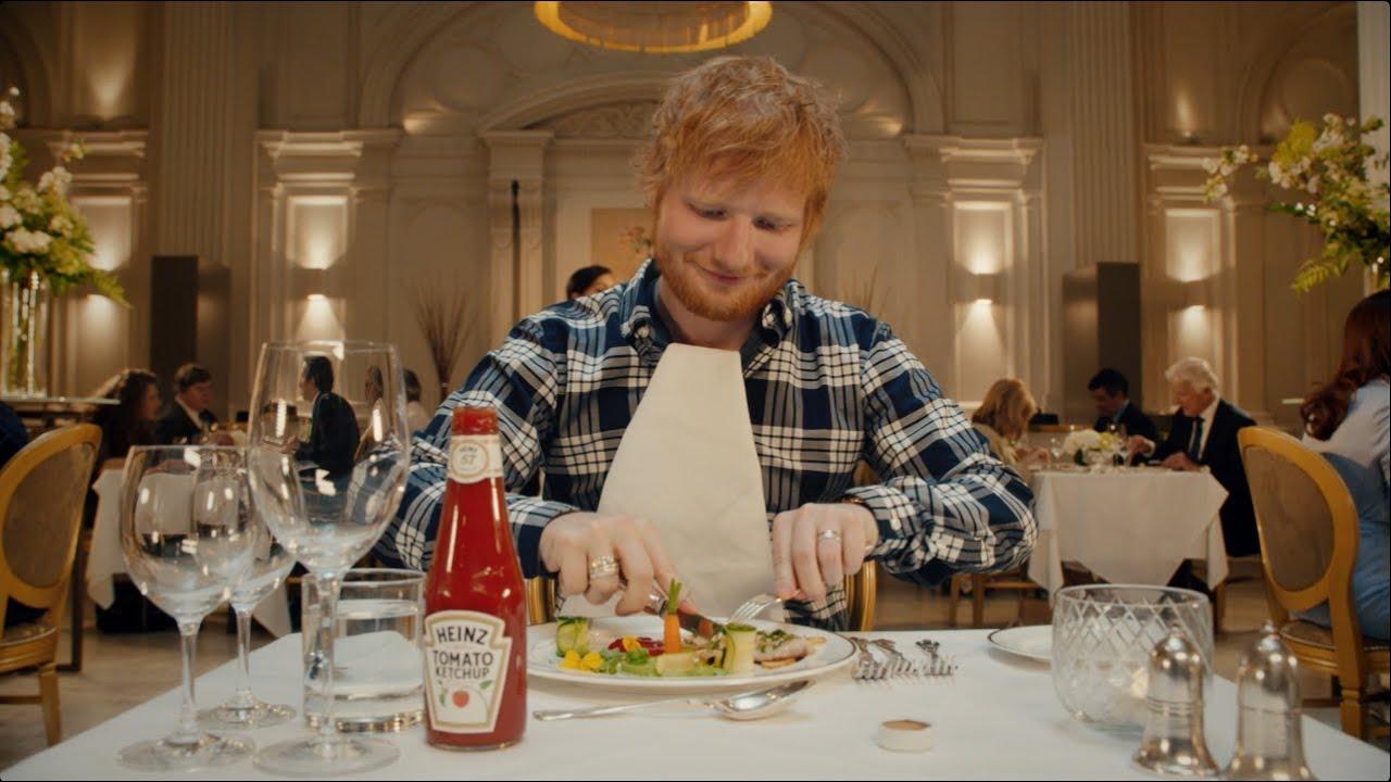 Ed Sheeran's Tomato Ketchup Advert Has a Dig at Fancy Fine Dining