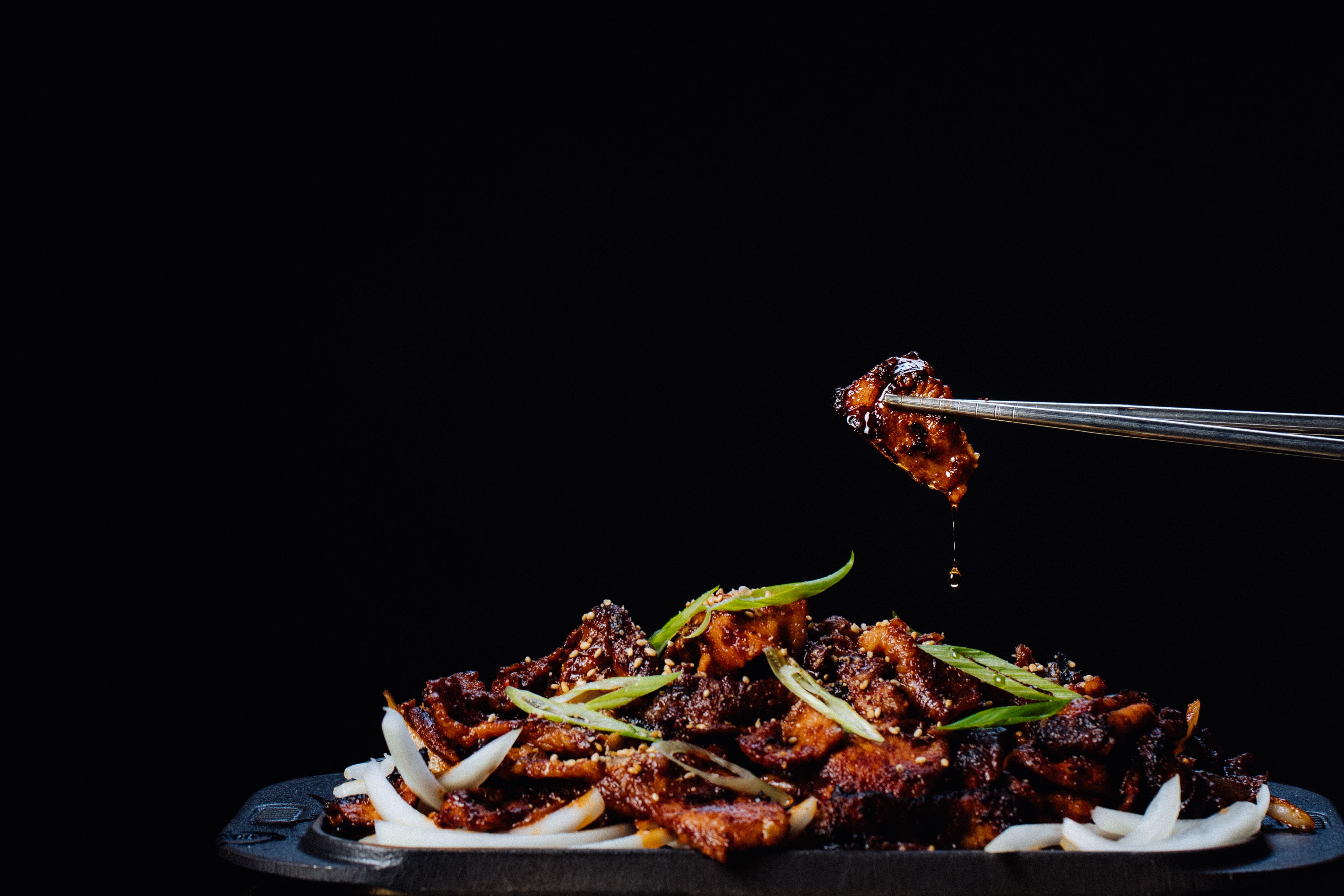 Spicy barbecue pork at Best Friend