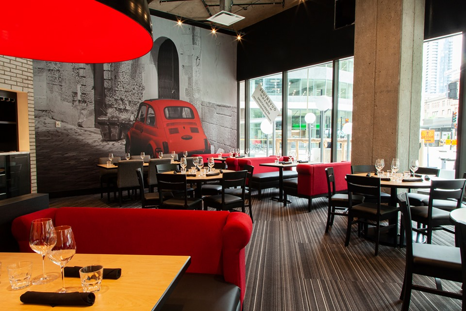 An Ultra-Large Chain Italian Restaurant Is Trying Its Luck in the Quartier des Spectacles