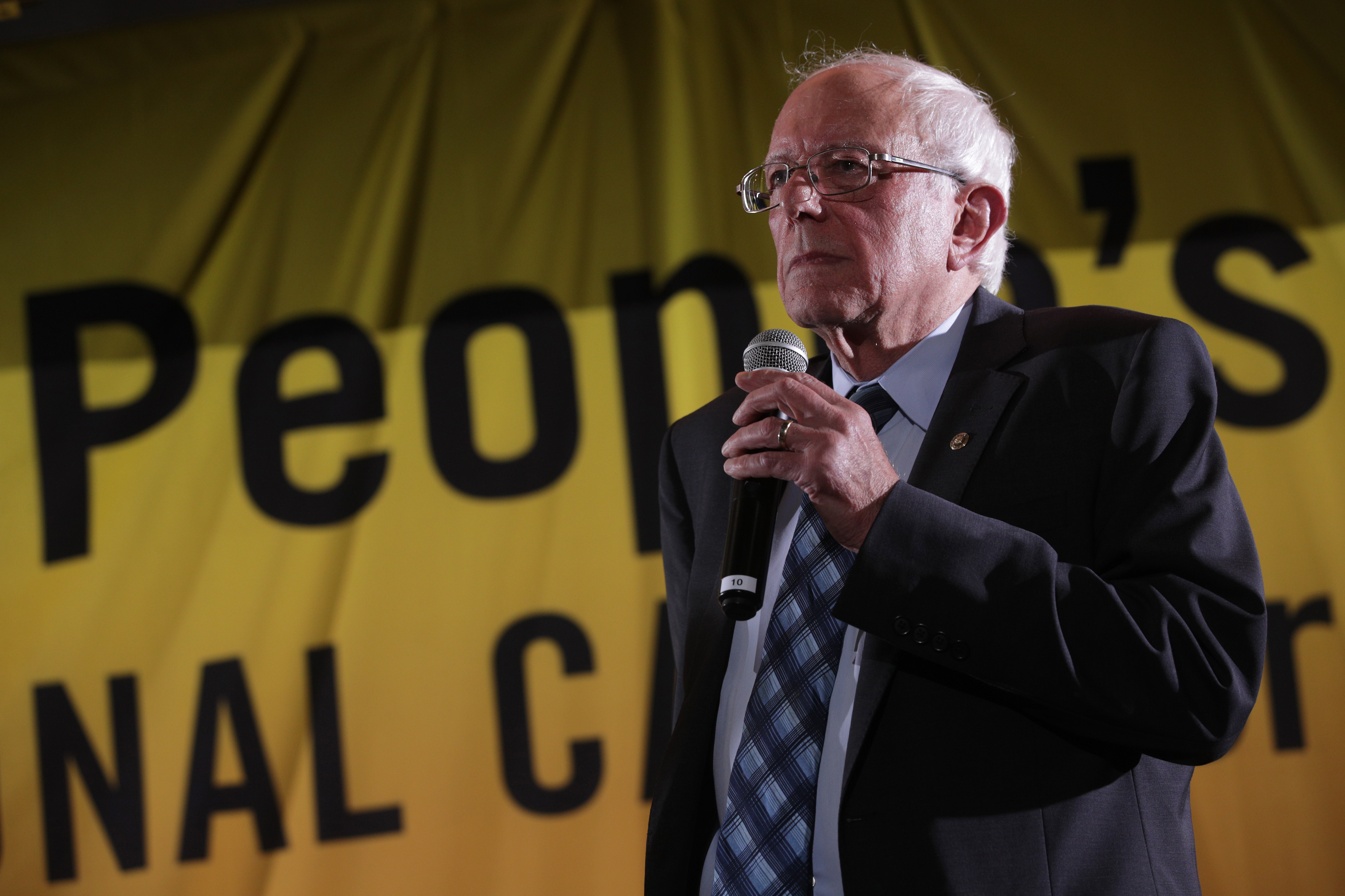 Vermont Sen. Berne Sanders was one of nine 2020 presidential candidates to speak at the Poor People's Campaign Presidential Forum on June 17, 2019.