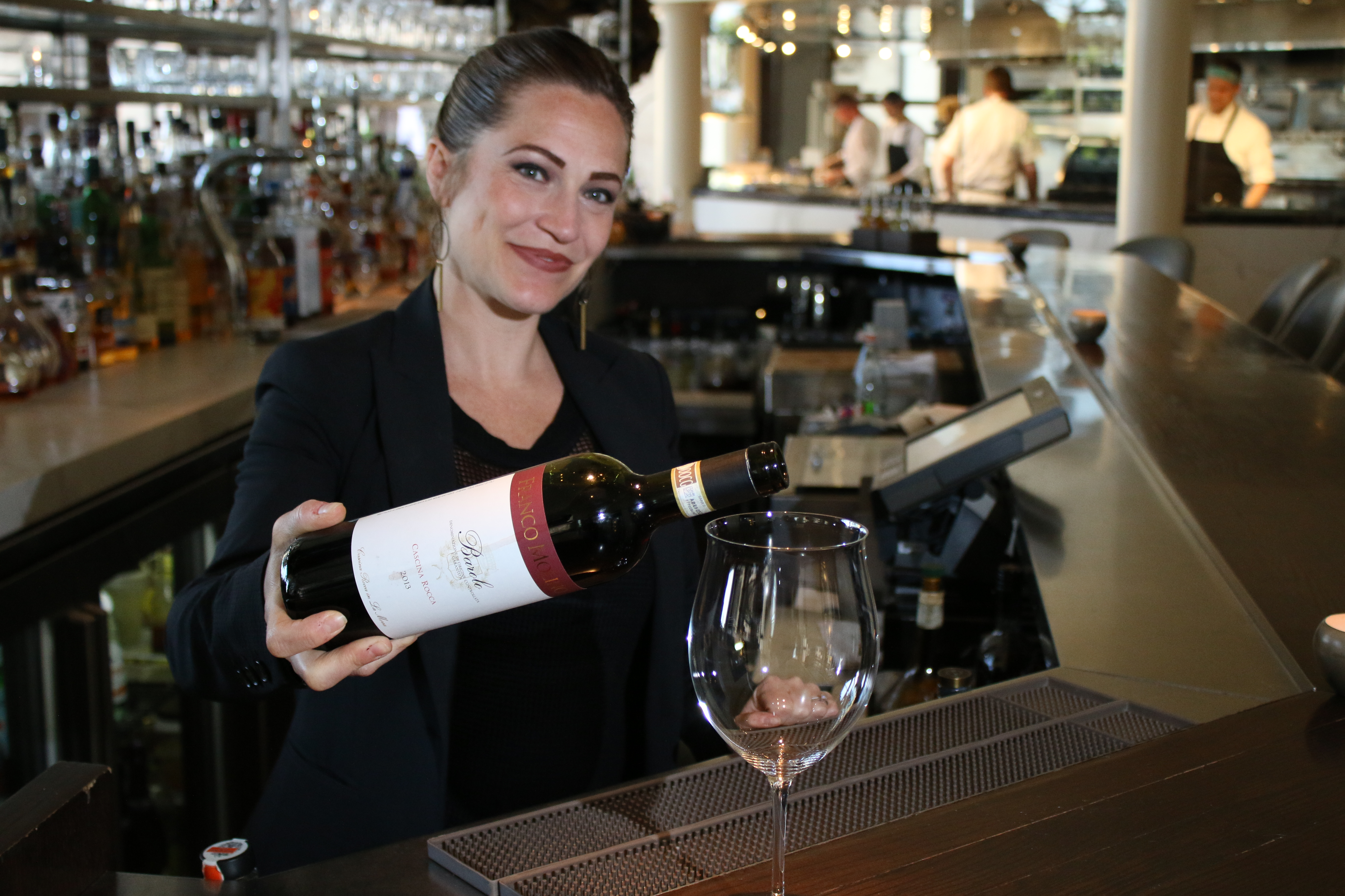 Rachel Lowe is the sommelier at Spiaggia restaurant.