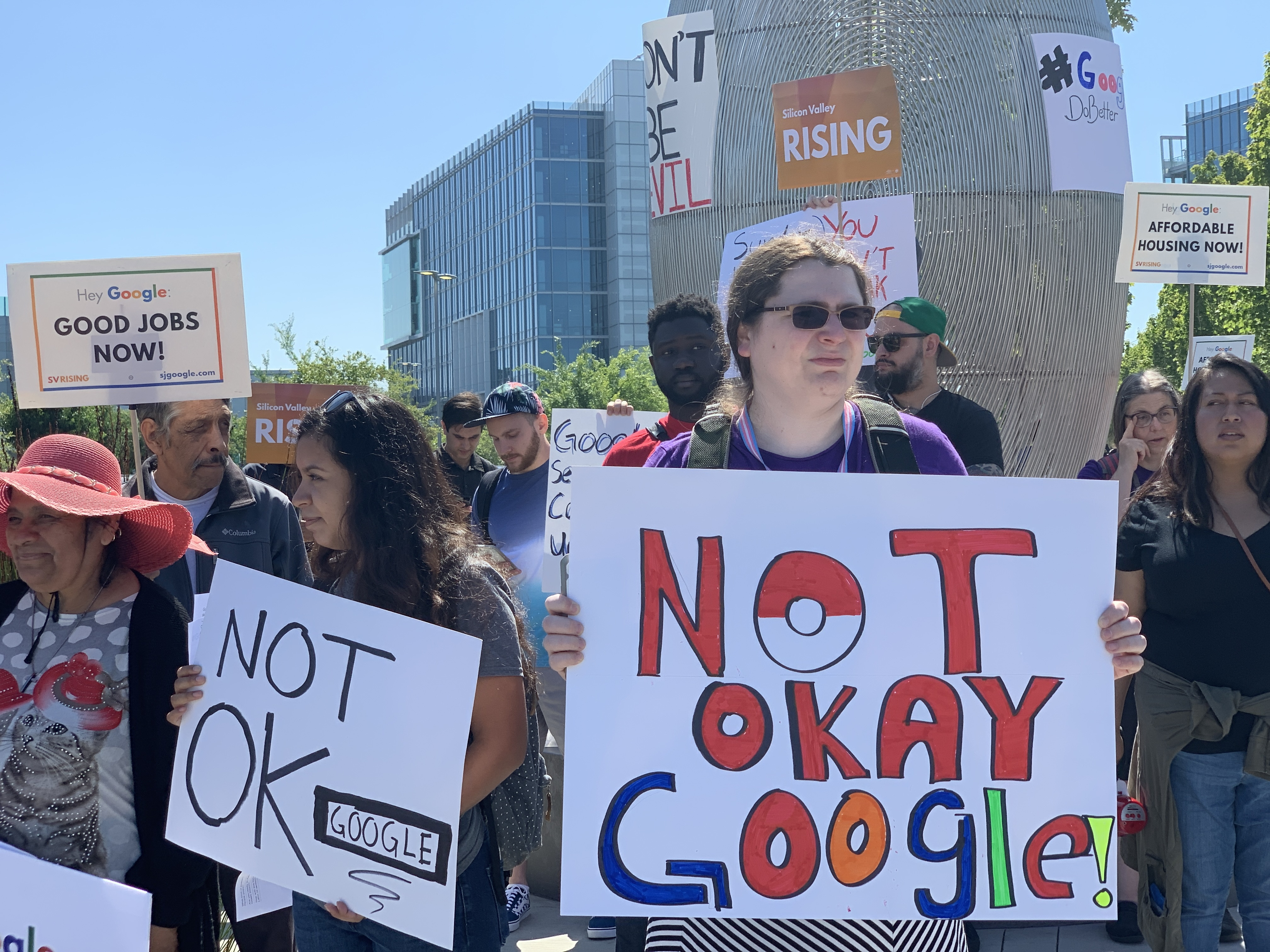 Google employees protest at Alphabet's shareholder meeting