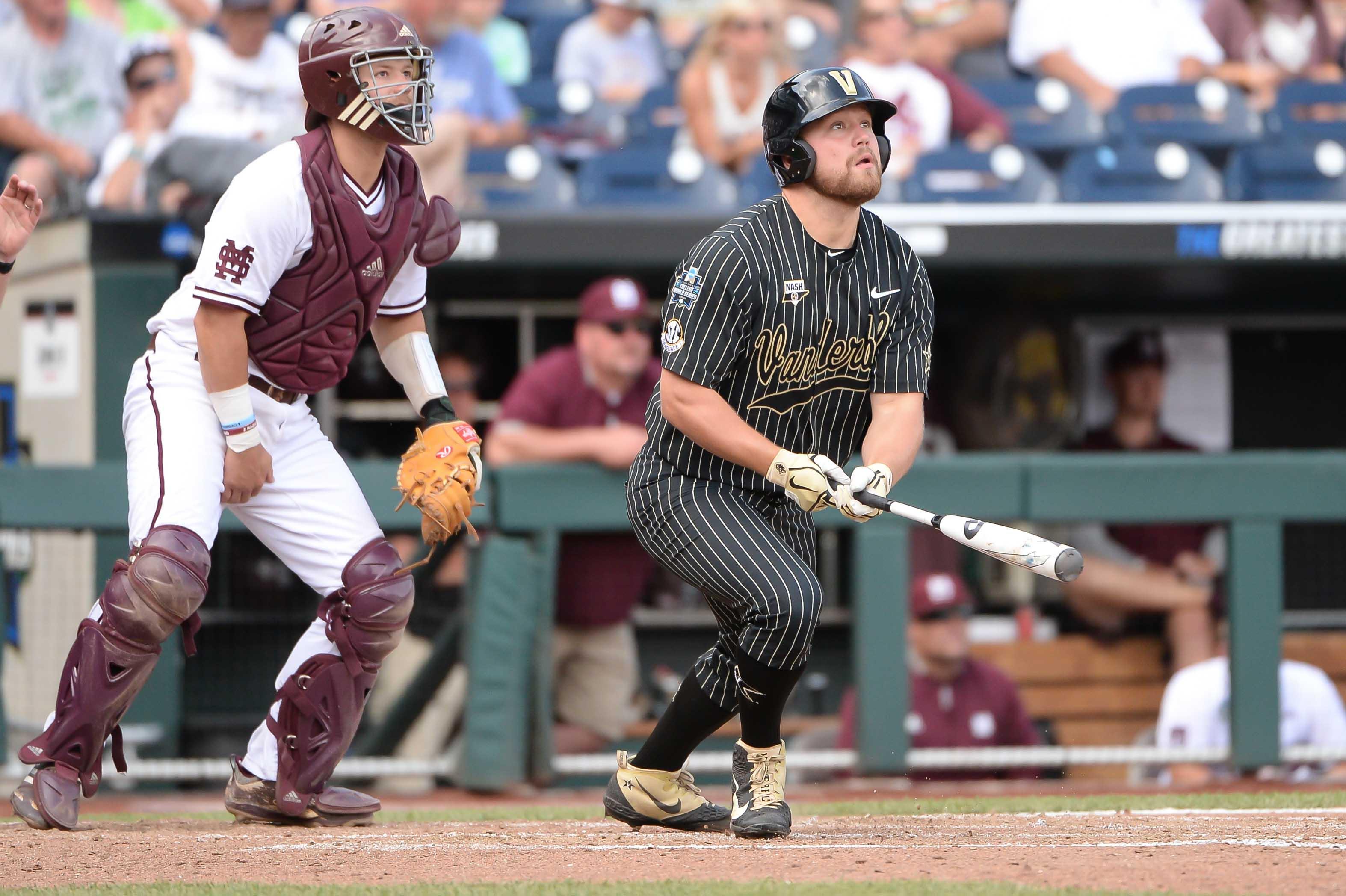 NCAA Baseball: College World Series-Mississippi State vs Vanderbilt