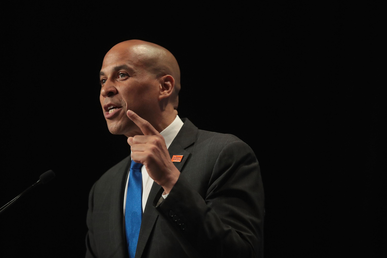 Sen. Cory Booker (D-NJ) campaigns for president in Iowa.