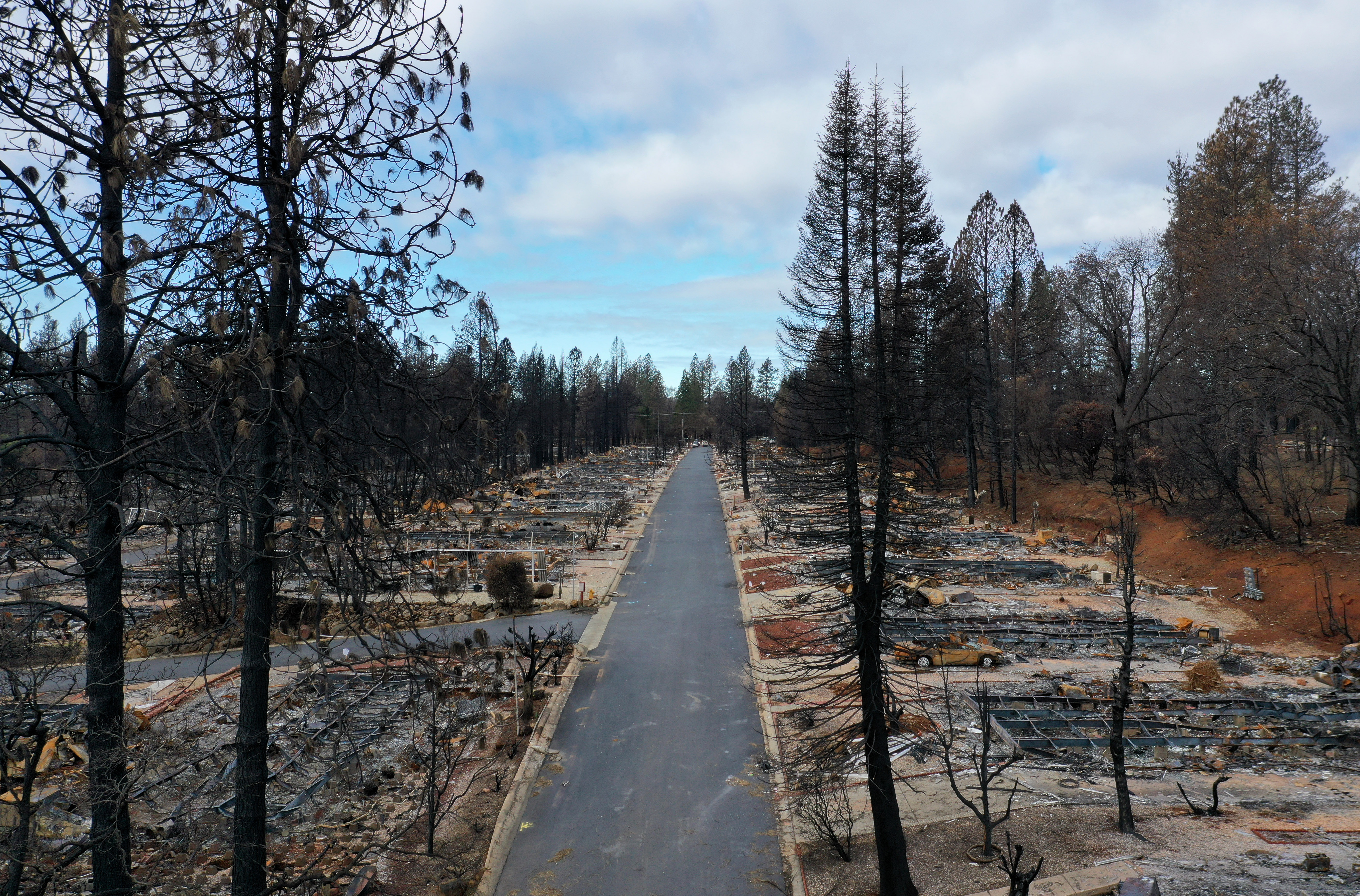 Town Of Paradise Wiped Out By The Camp Wildfire Continues Long Struggle To Rebuild