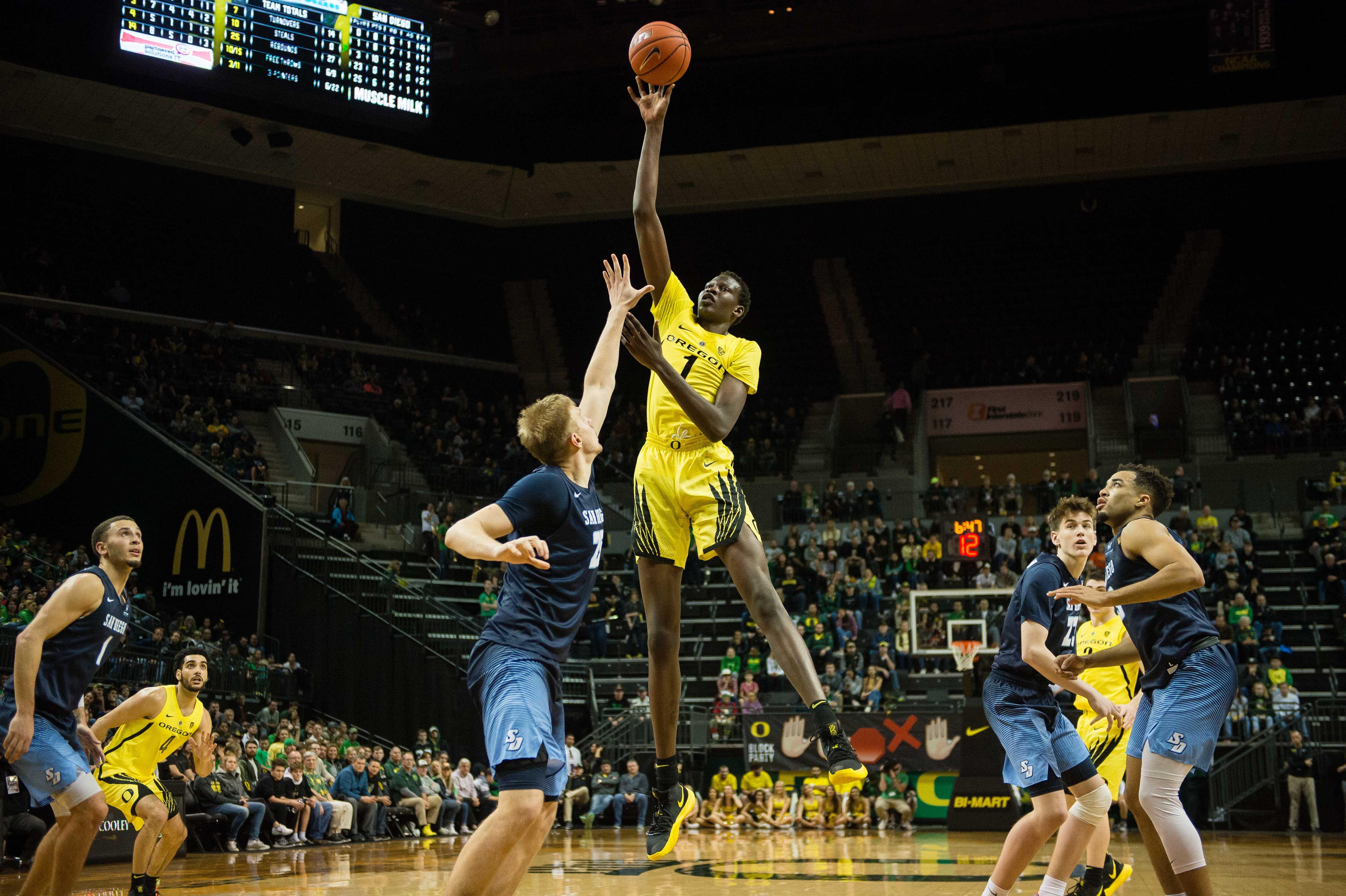 NCAA Basketball: San Diego at Oregon