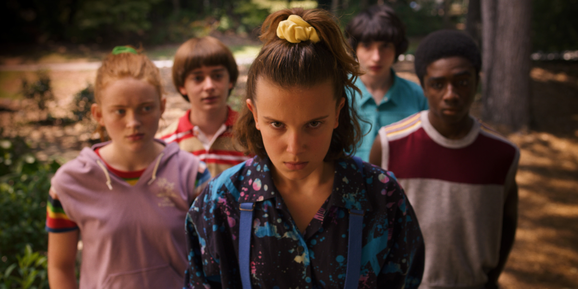 eleven and the gang in stranger things 3