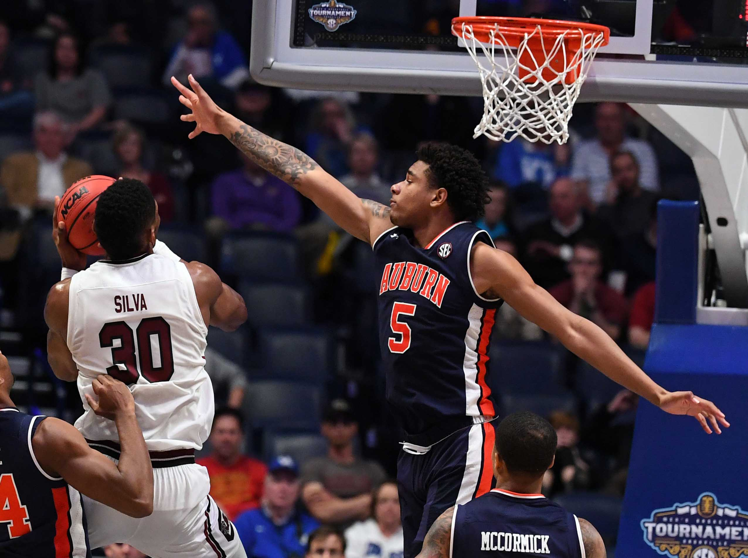 NCAA Basketball: SEC Conference Tournament-South Carolina vs Auburn