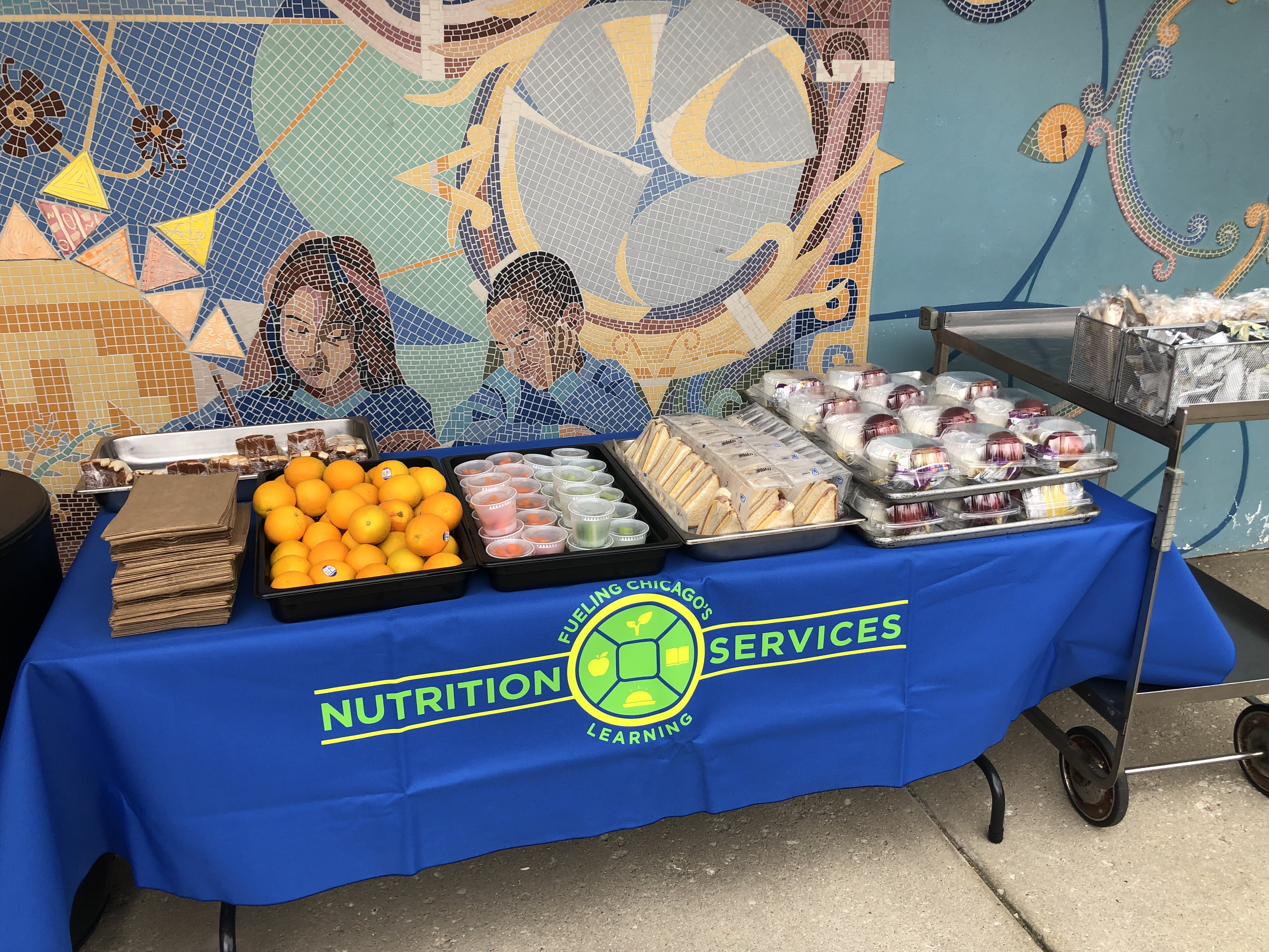 The LunchStop site at Perez Elementary School in Pilsen.