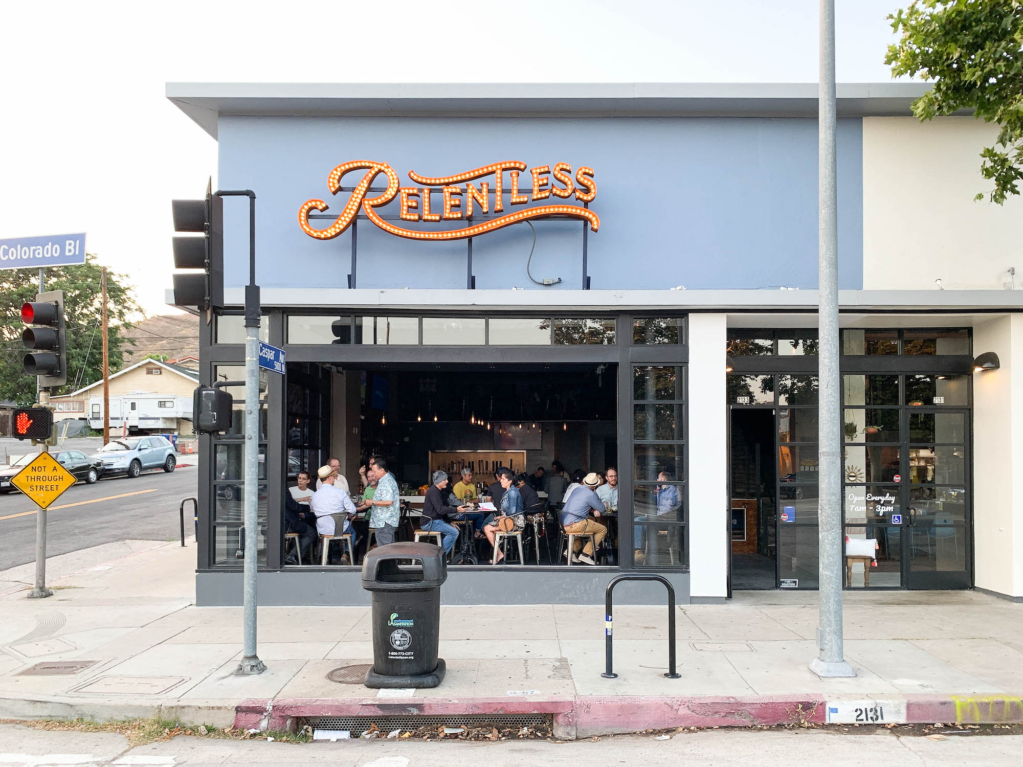 Exterior of a bar in Eagle Rock.