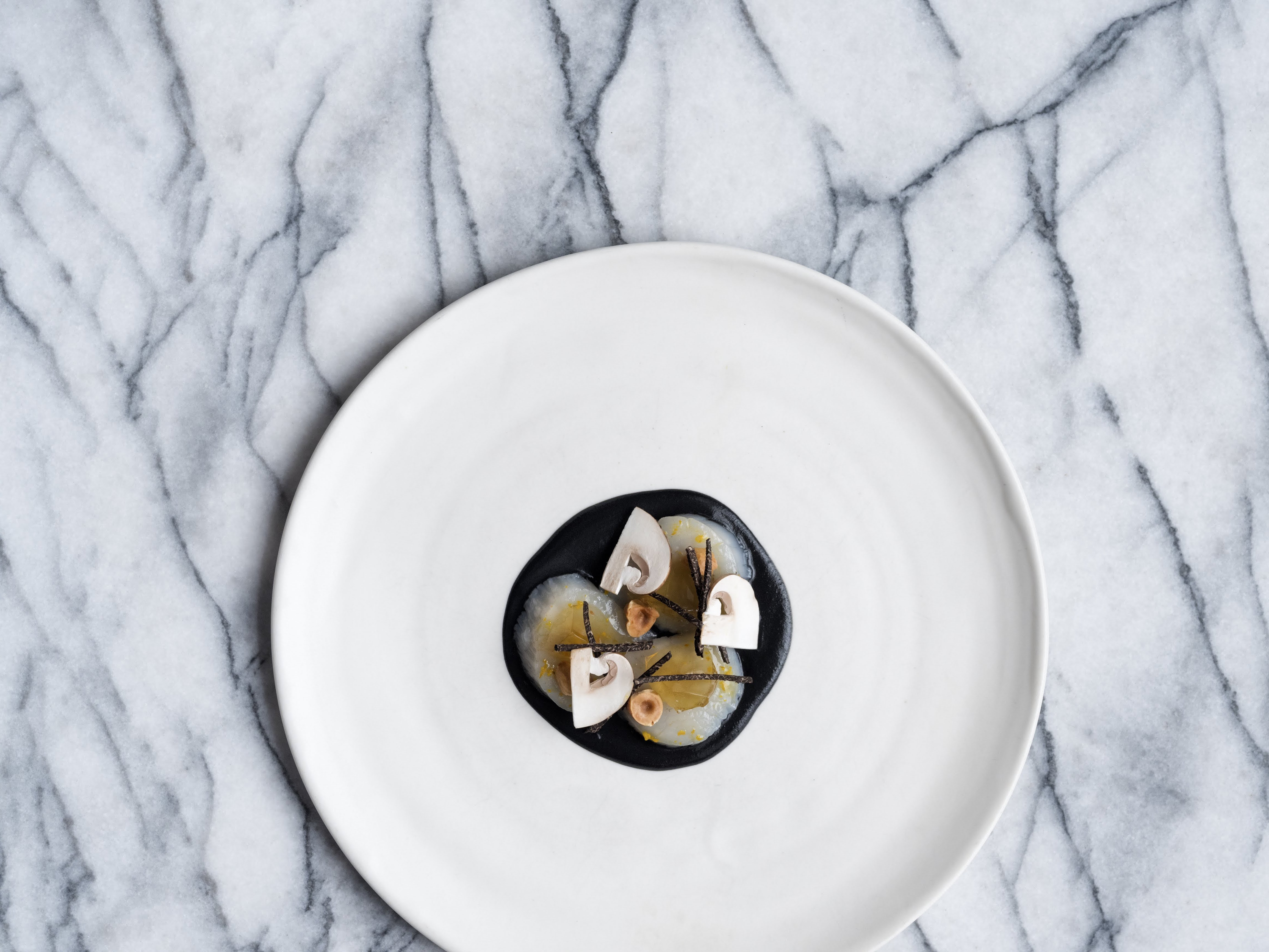 A dish from the tasting menu at the Michelin-starred Clove Club in Shoreditch