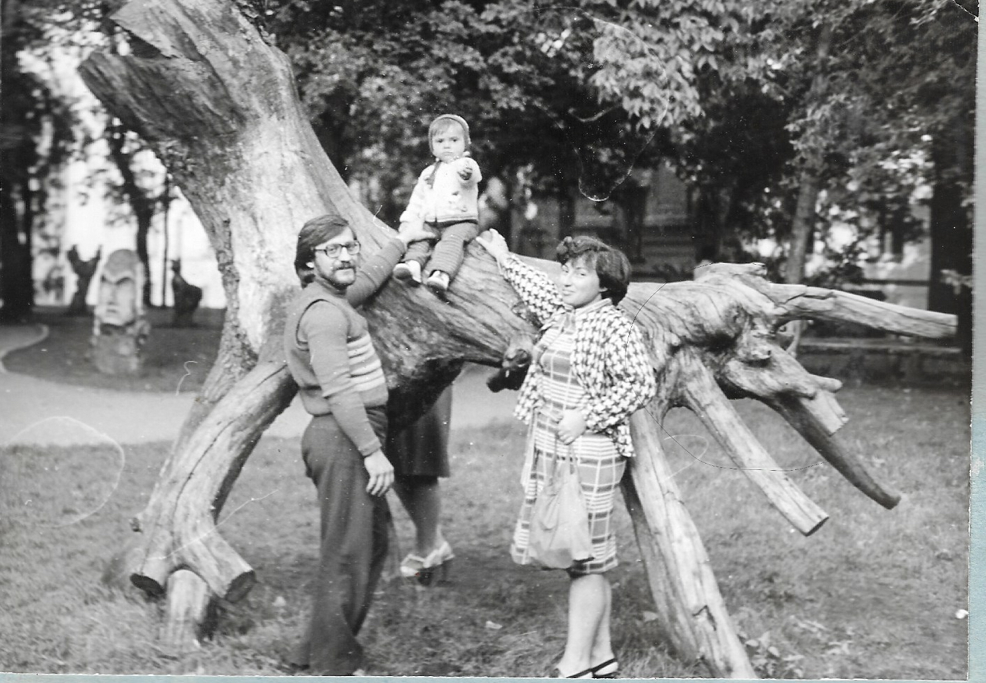 Sophia Moskalenko with hermother and father in 1977, when she is 1 years old. She was raised inKyiv, Ukraine, some 60 miles from the site of the Chernobyl disaster.