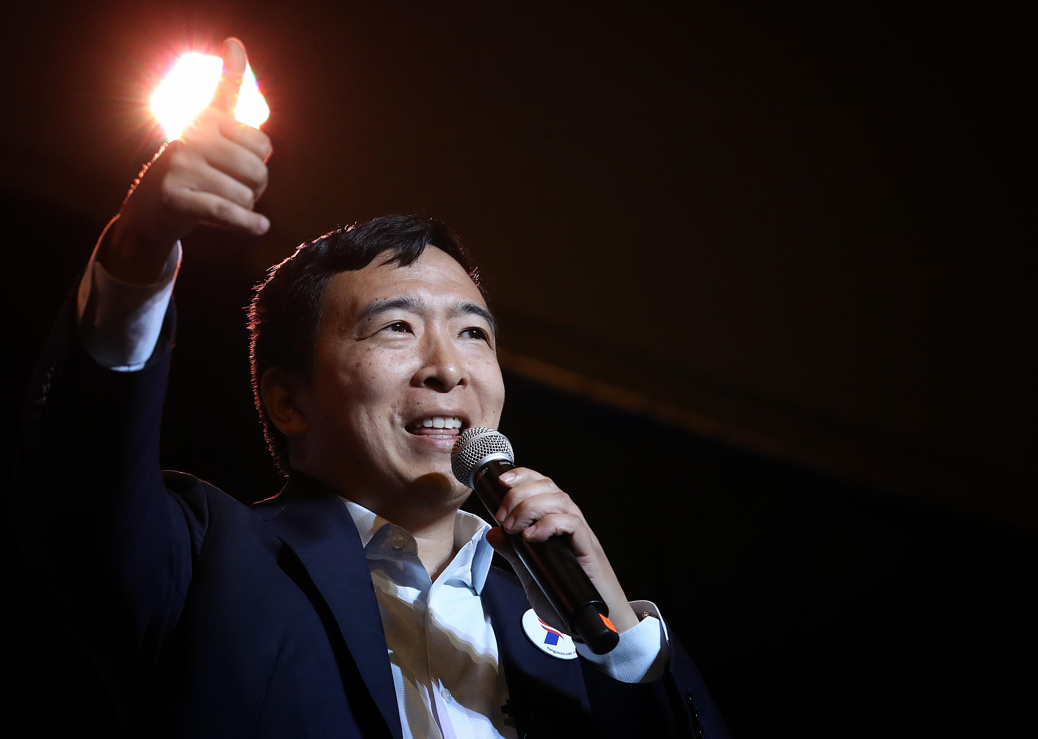 Longshot presidential hopeful Andrew Yang