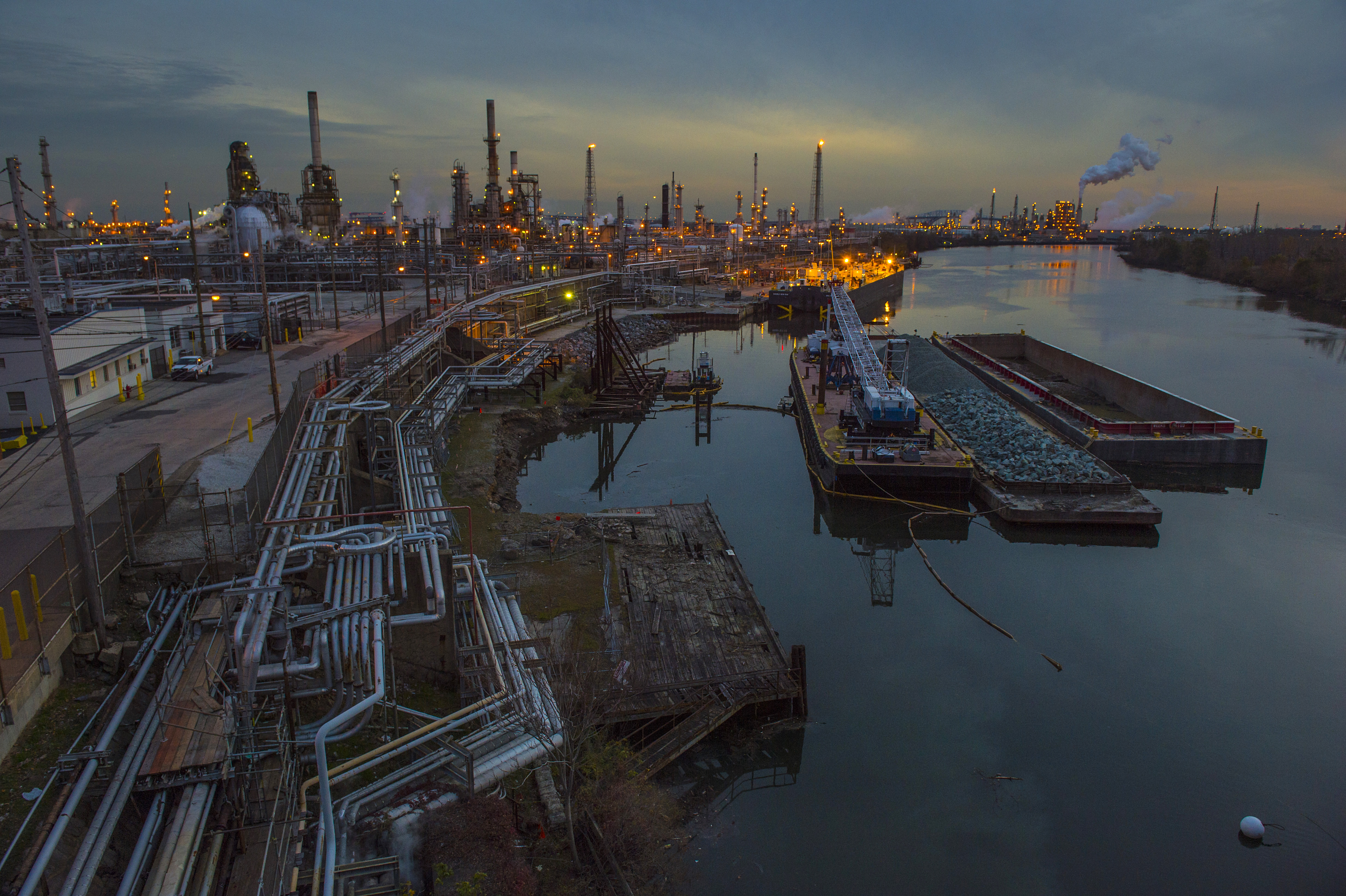 After refinery shutdown, what happens to the land?