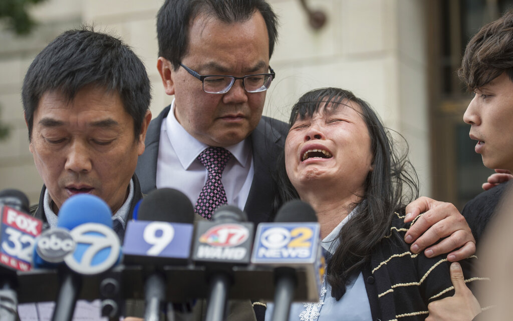 Press conference with Yingying Zhang's family