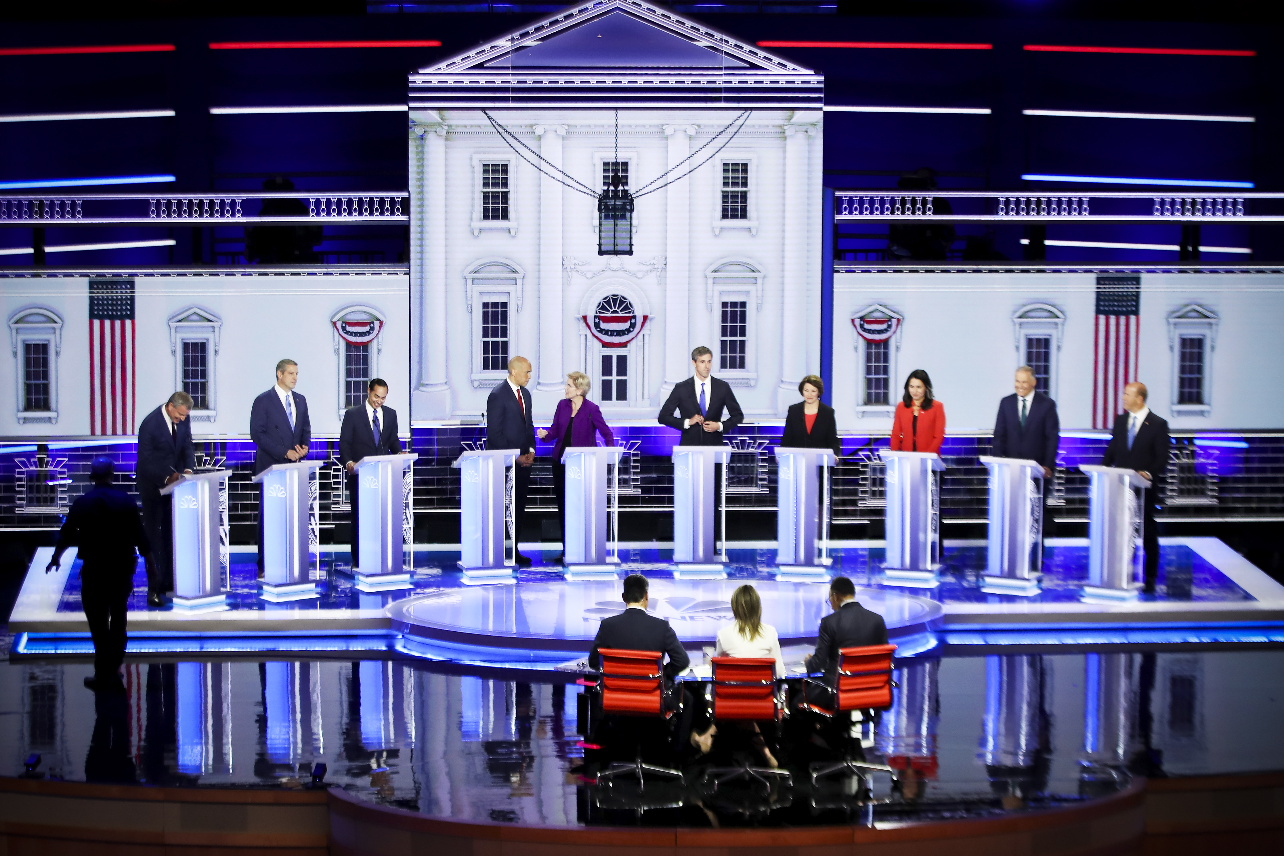 The first night of the Democratic presidential debate on June 26, 2019 in Miami, Florida.