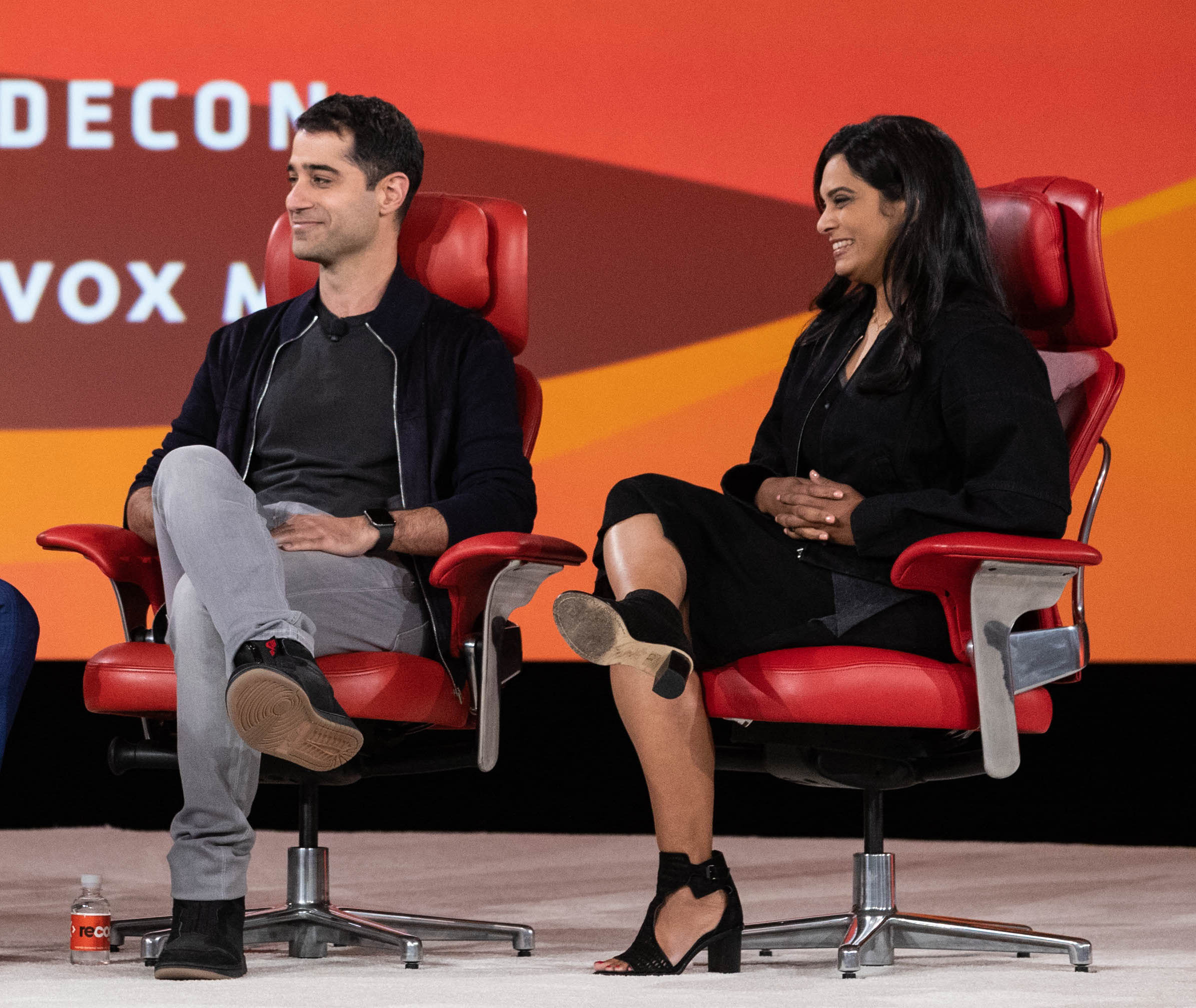Twitter product lead Kayvon Beykpour and trust and safety lead Vijaya Gadde.