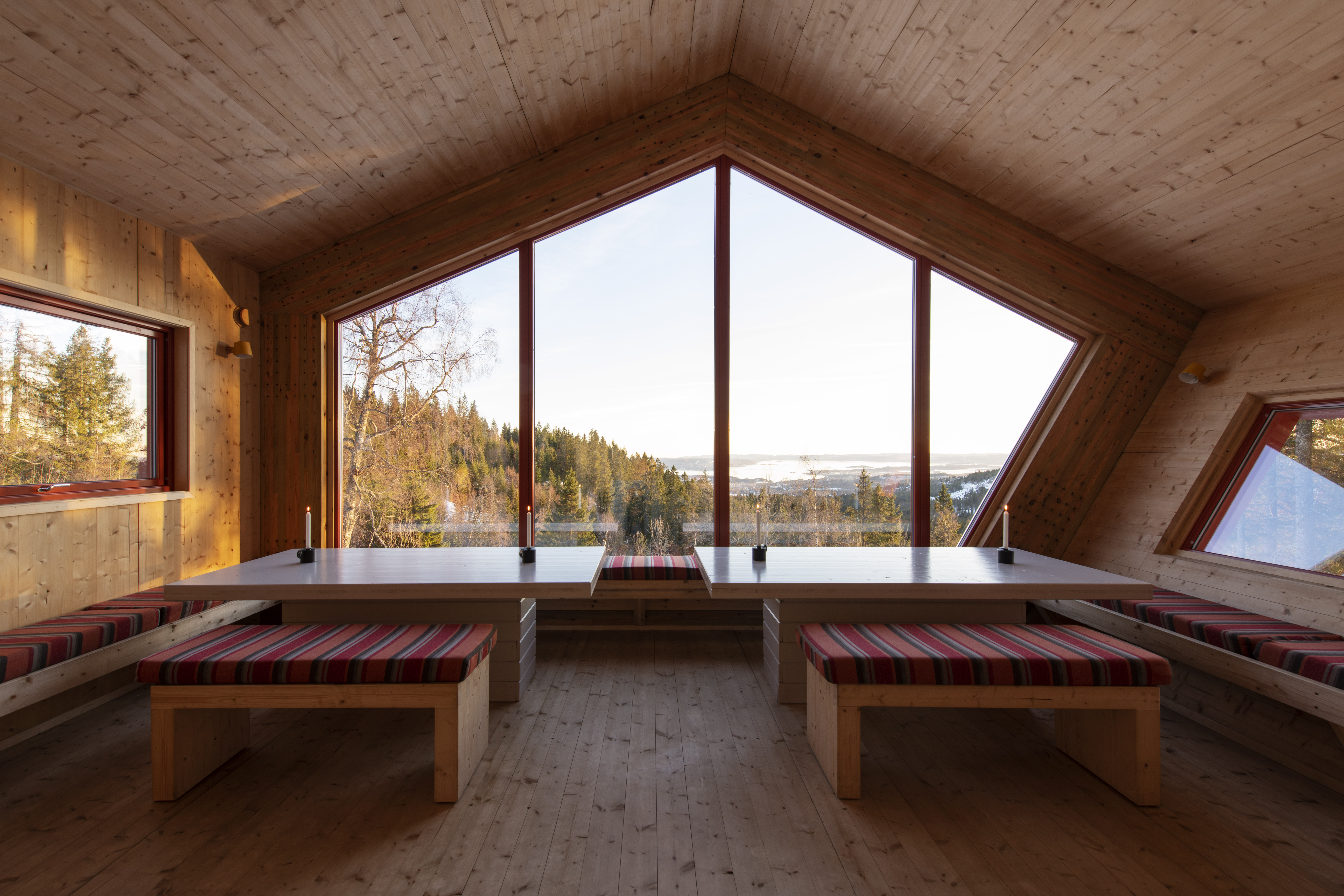 End your hike in style at this gorgeous pentagonal cabin