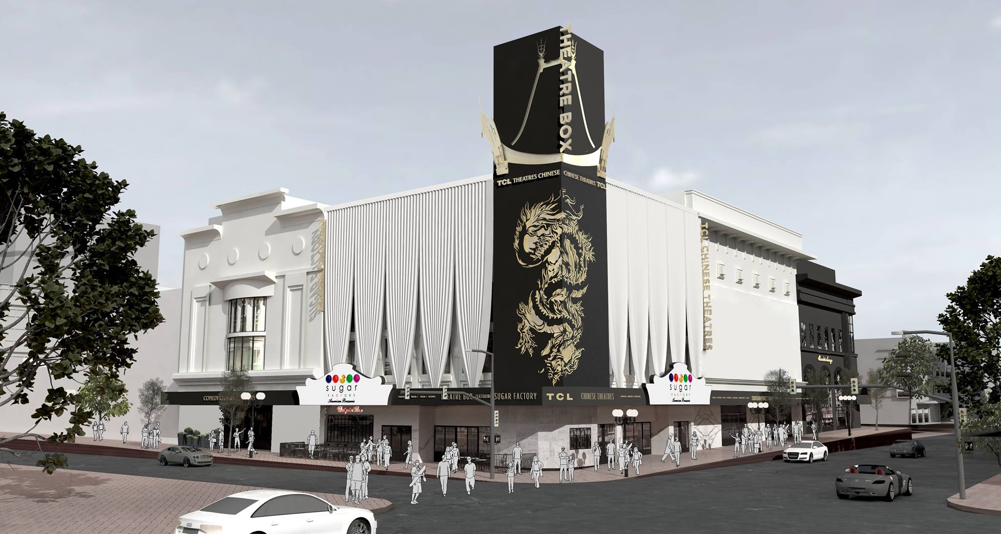 Photo of the TCL Chinese Theatre at the Theatre Box in San Diego