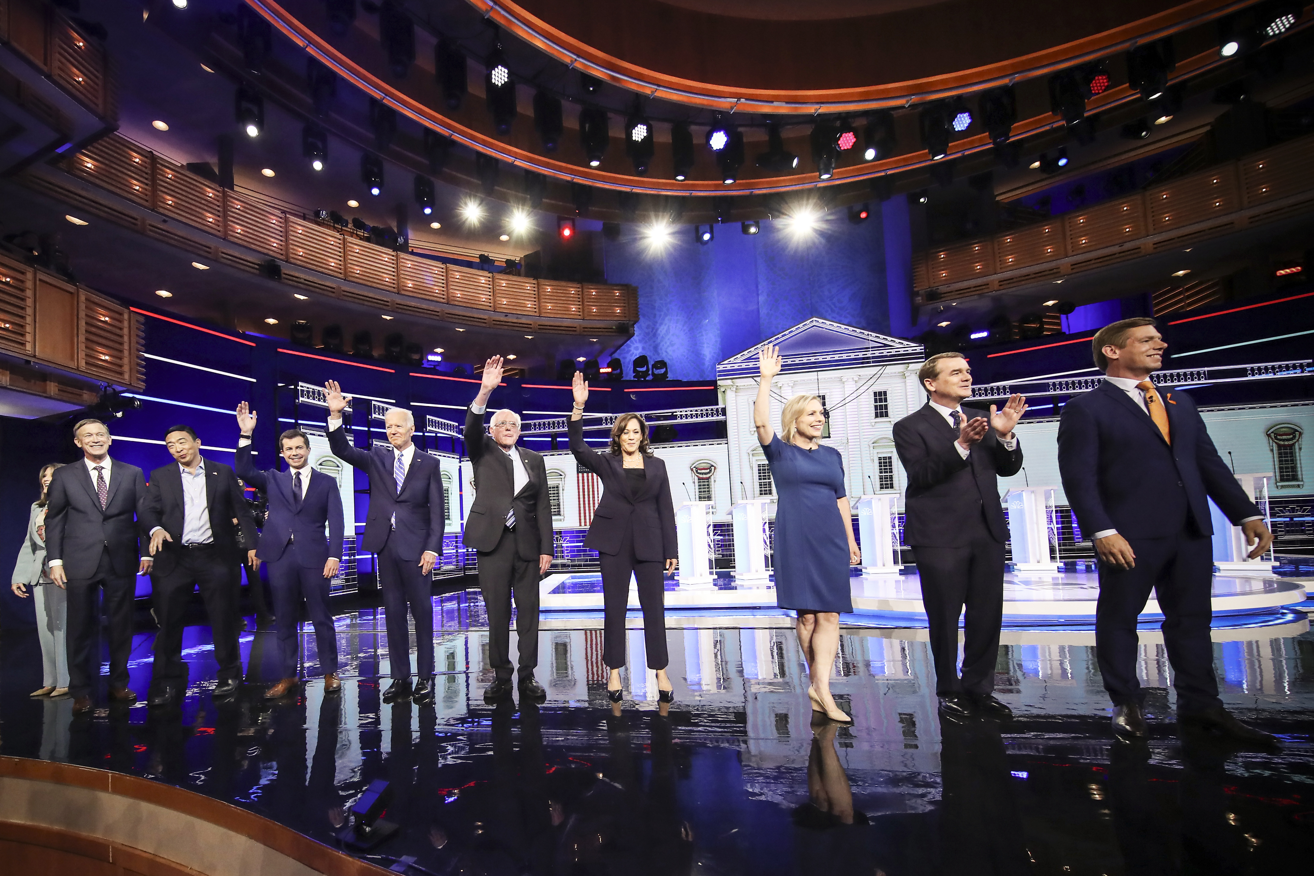 A field of 20 Democratic presidential candidates was split into two groups of 10 for the first debate of the 2020 election.