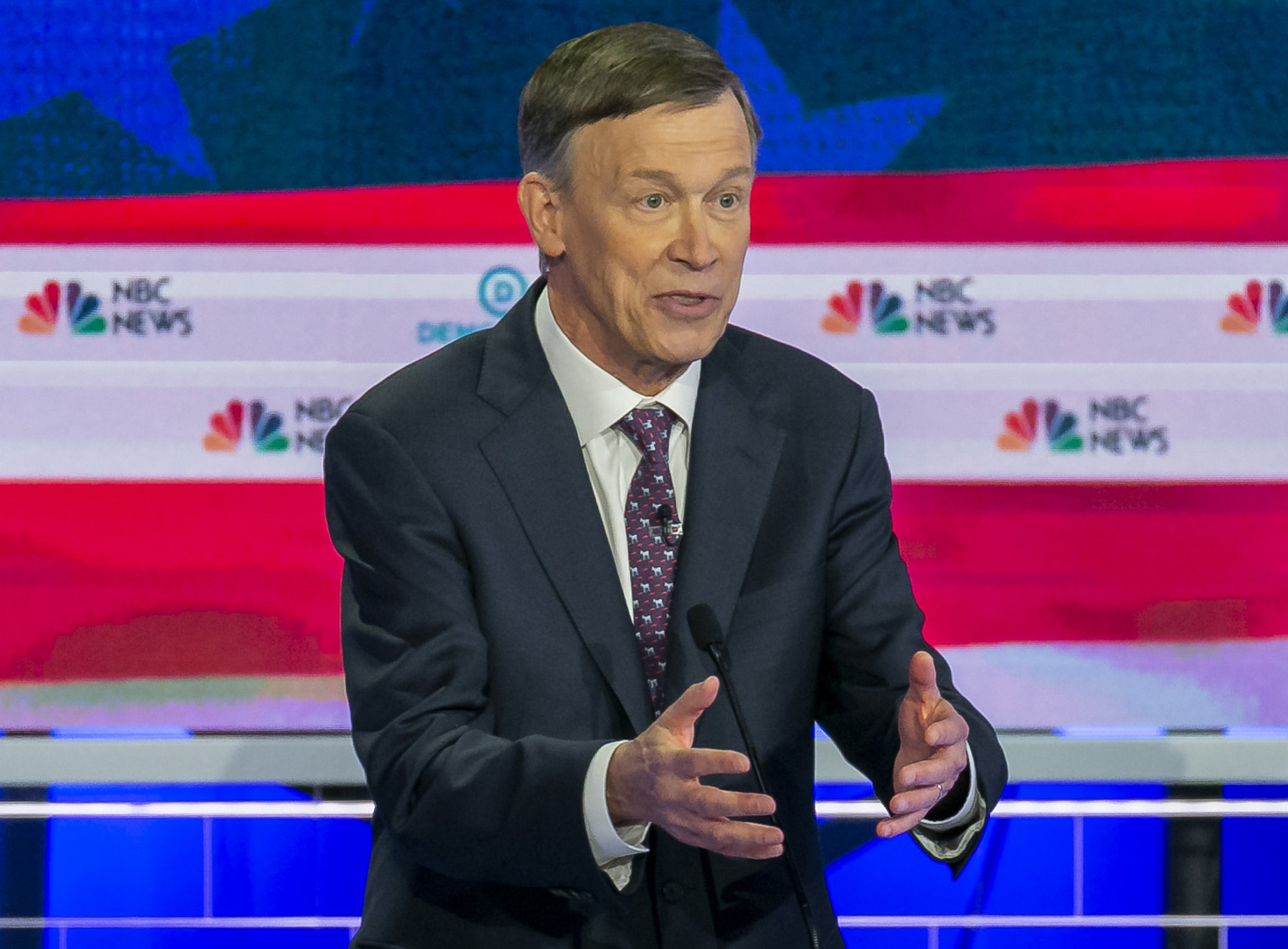 Former Colorado Gov. John Hickenlooper laid out how he intends to fight climate change and why he opposes the Green New Deal during the 2019 Democratic presidential primary debate.