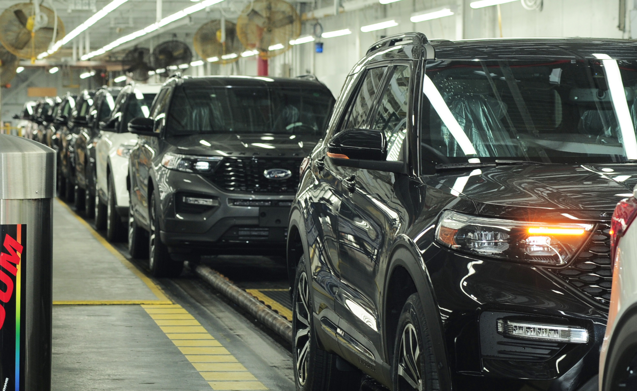 Ford Explorers for the 2020 model year roll off the line Monday at Ford's Torrence Avenue assembly plant on the Southeast Side.