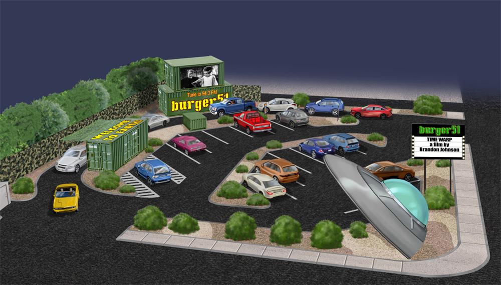 Burger51 rendering of parking