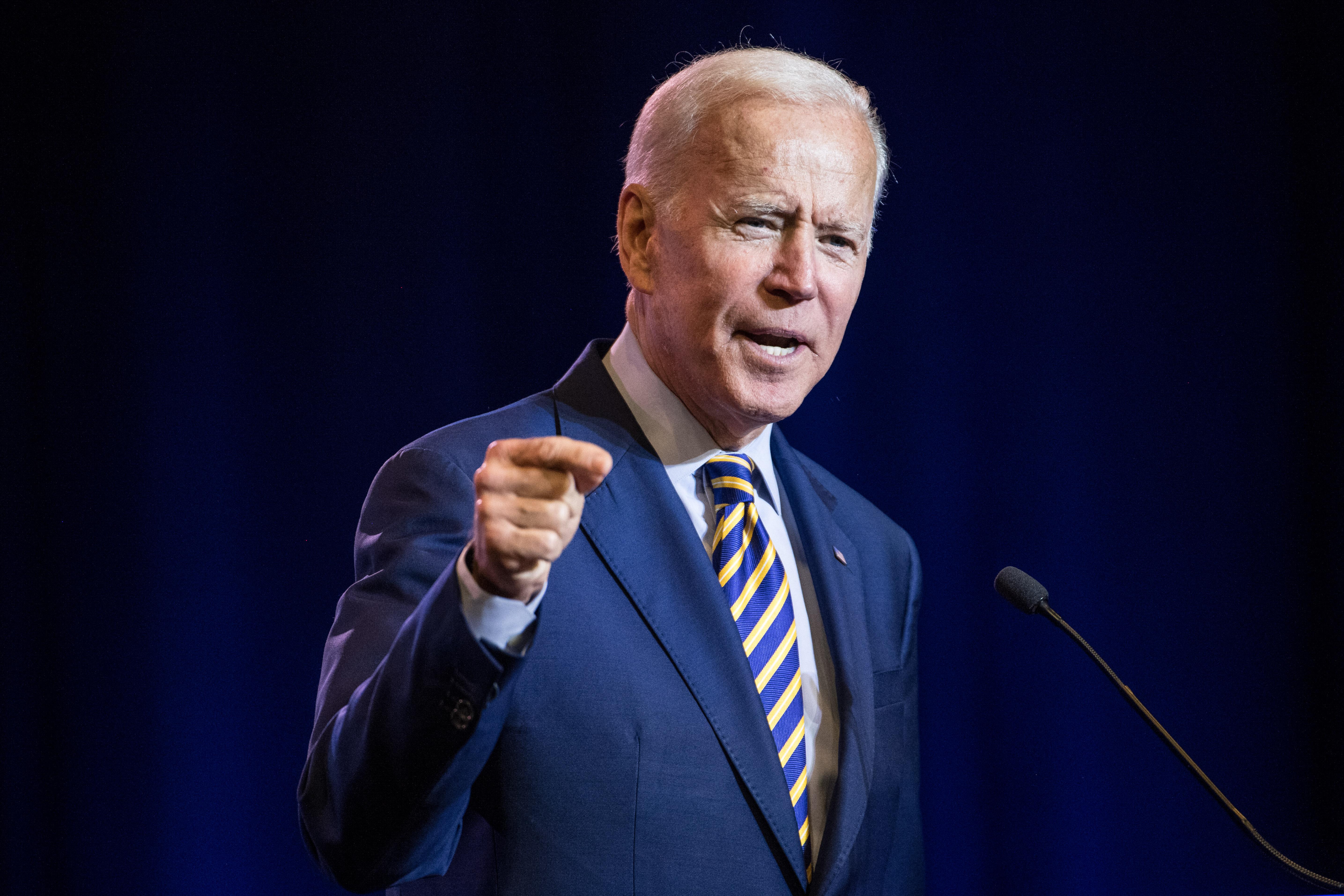 Democratic presidential candidate Joe Biden.