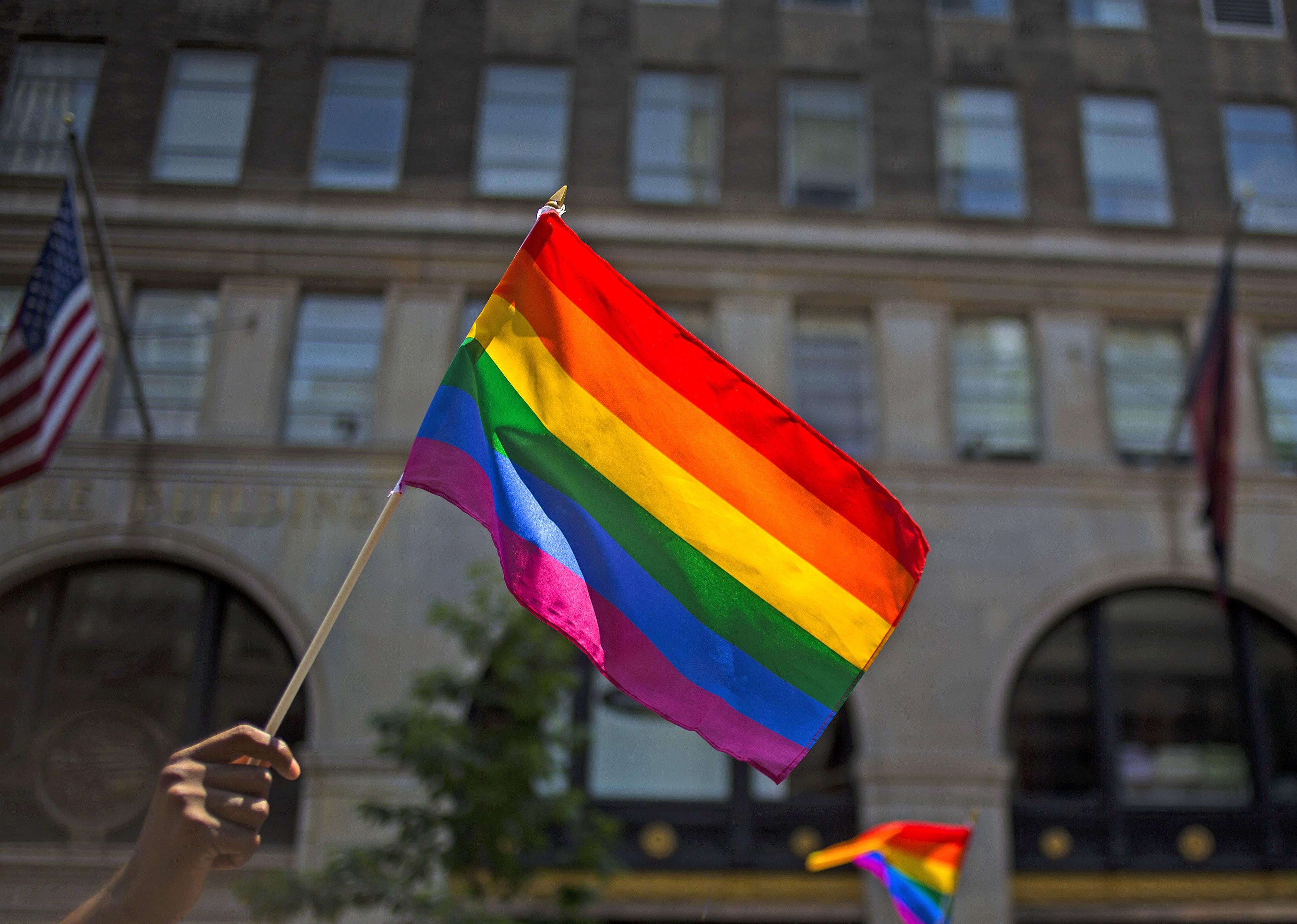 Gay Pride Parade Winds Through New York City